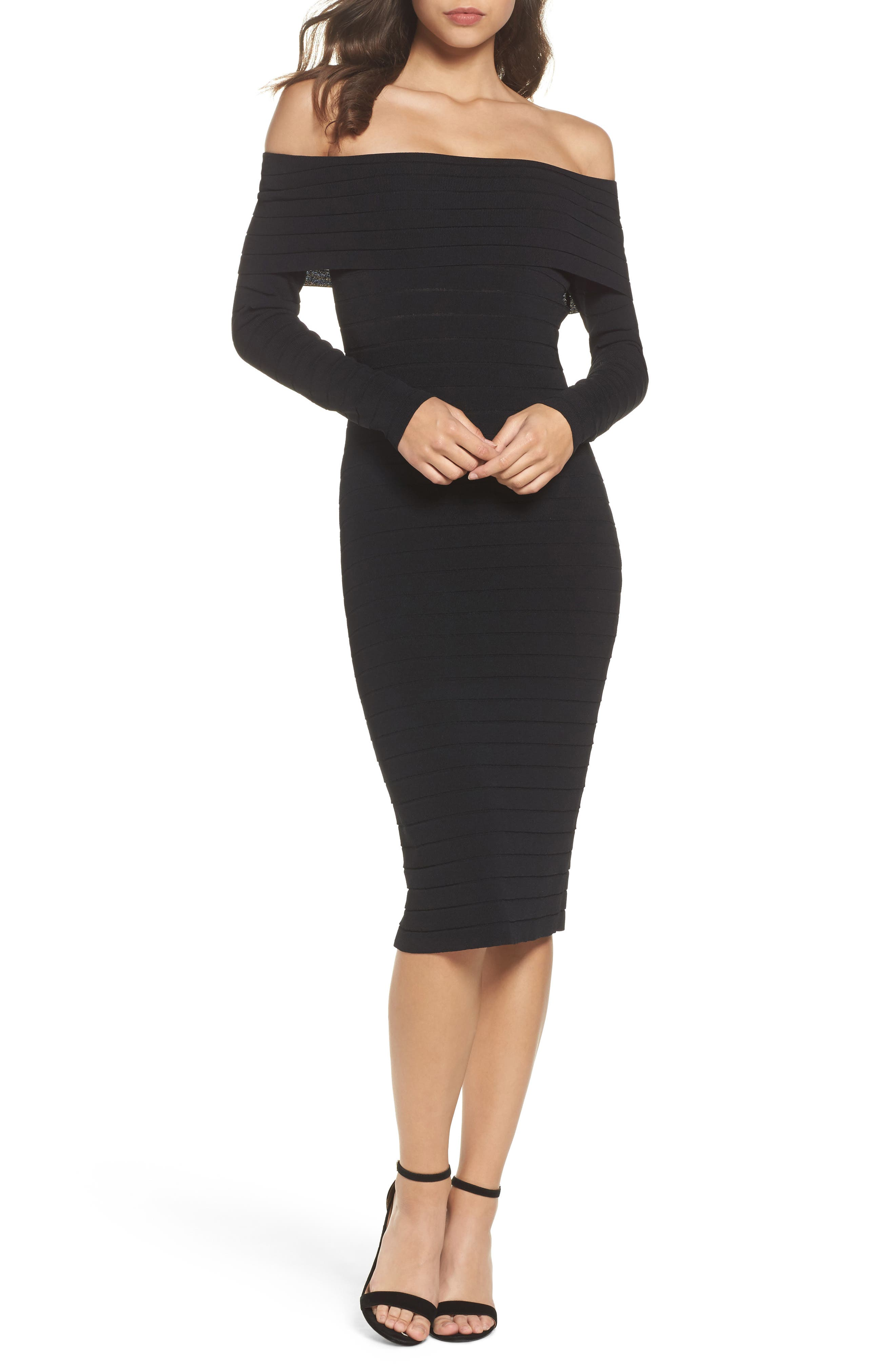 Bandage Midi Dress,                             Main thumbnail 1, color,