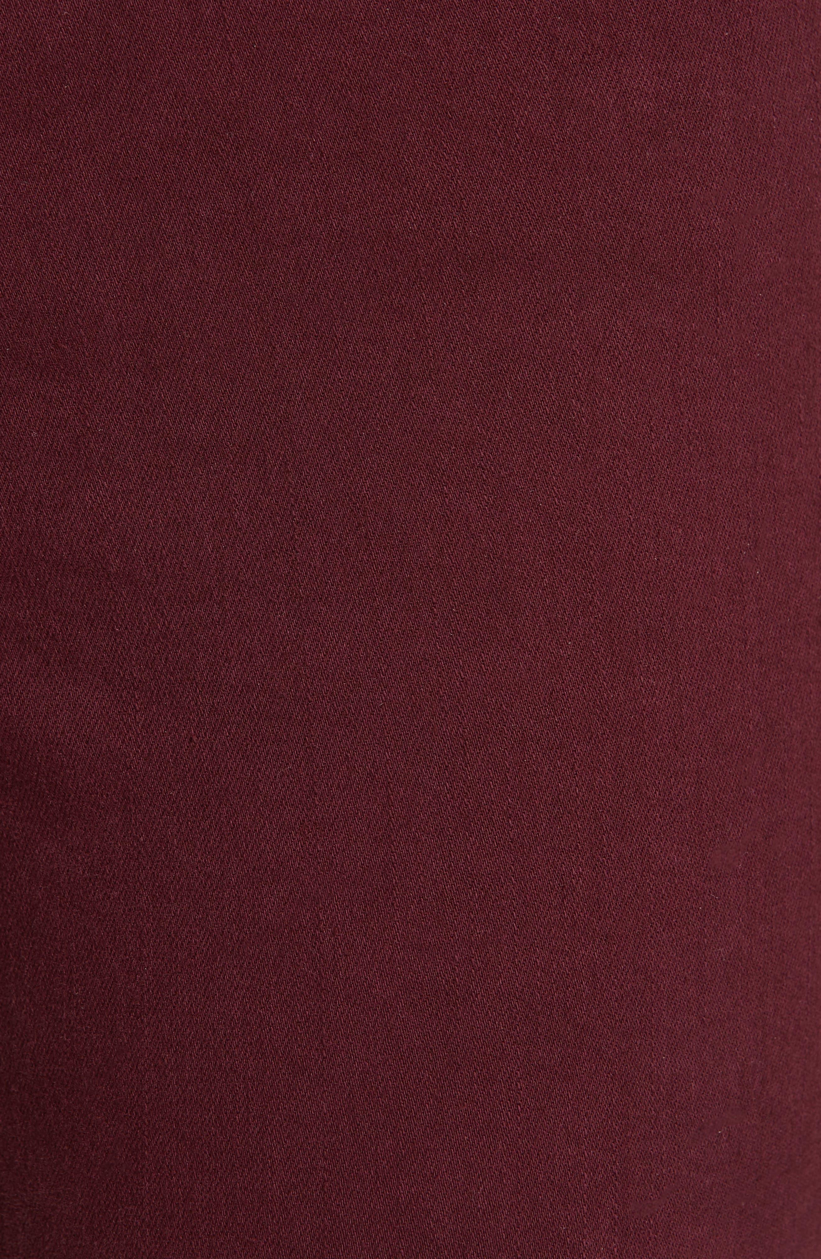 Le Skinny de Jeanne Raw Stagger Hem Jeans,                             Alternate thumbnail 6, color,                             PINOT