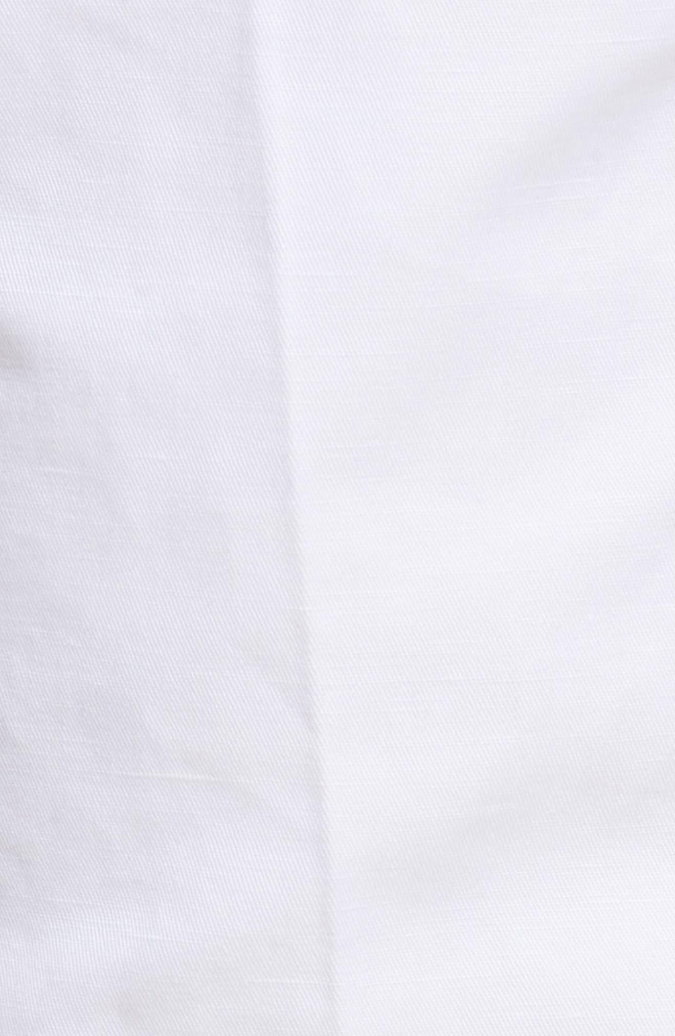 Flat Front Solid Cotton & Linen Trousers,                             Alternate thumbnail 6, color,