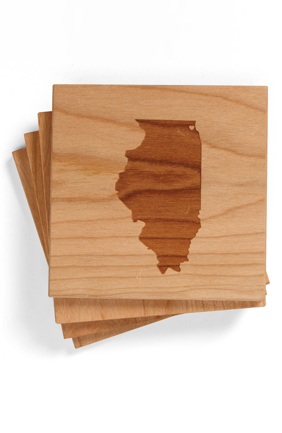 'State Silhouette' Coasters,                             Main thumbnail 3, color,