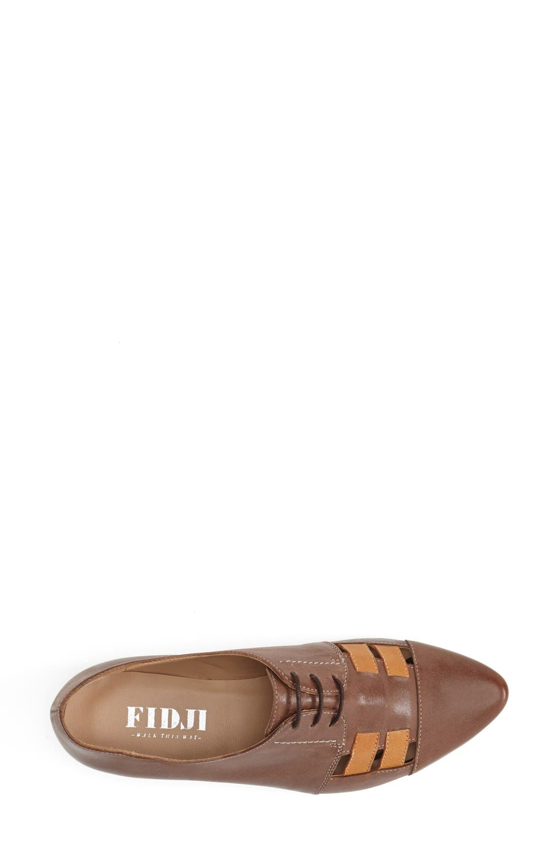 'V103' Leather Flat,                             Alternate thumbnail 3, color,                             BROWN