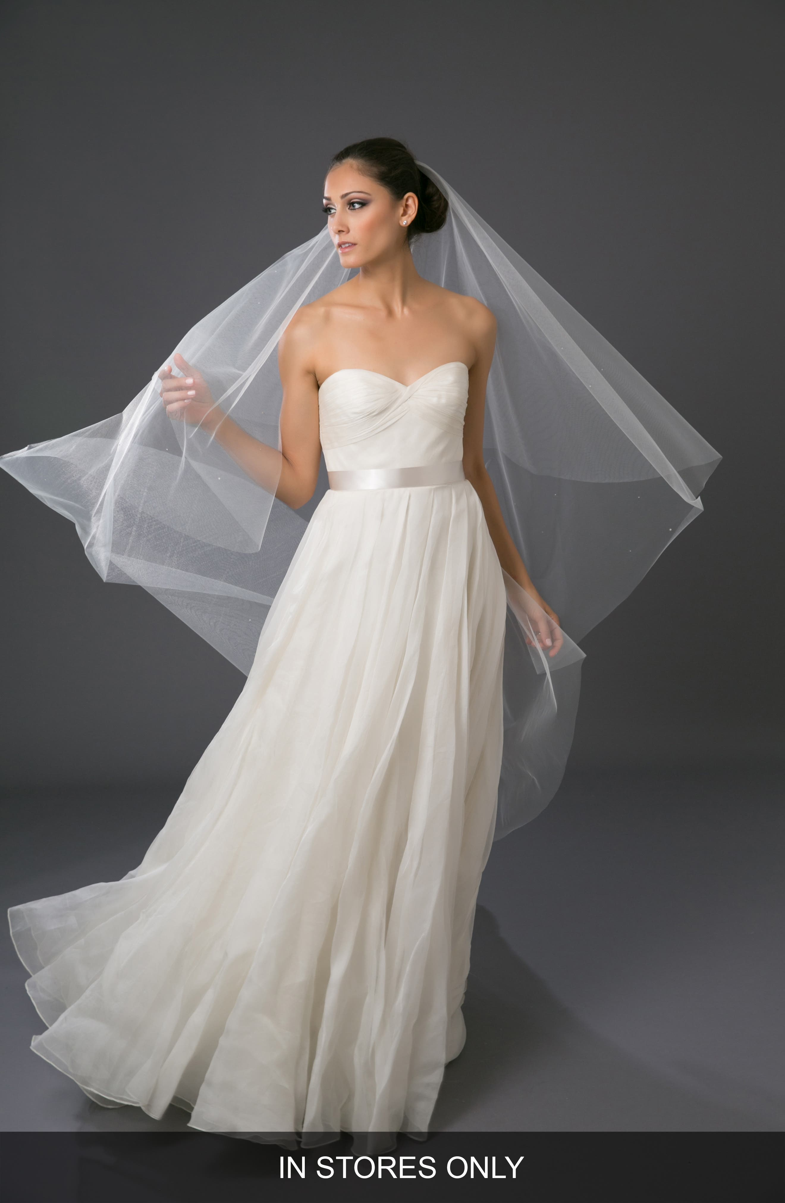 'Chakra' Circle Cut Waltz Length Veil,                             Alternate thumbnail 6, color,                             LIGHT IVORY