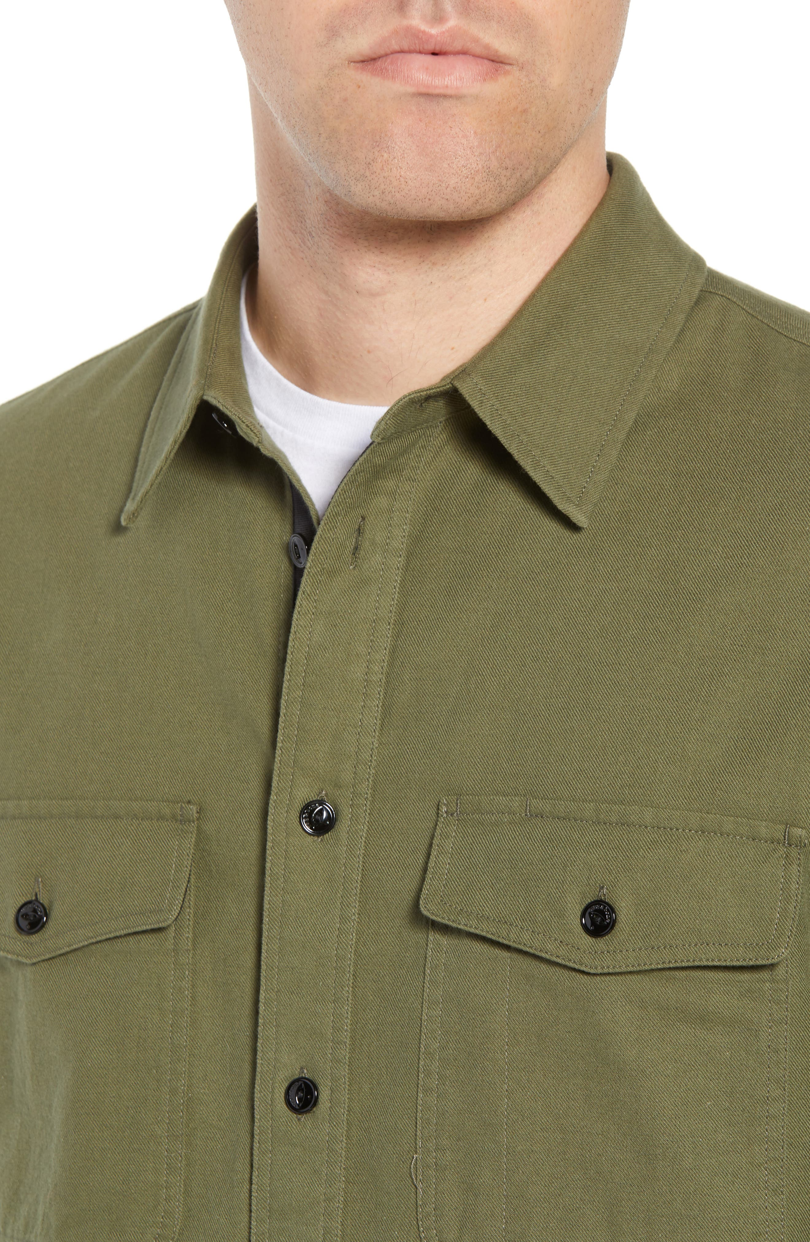 rag + bone Jack Slim Fit Plaid Sport Shirt,                             Alternate thumbnail 4, color,                             315
