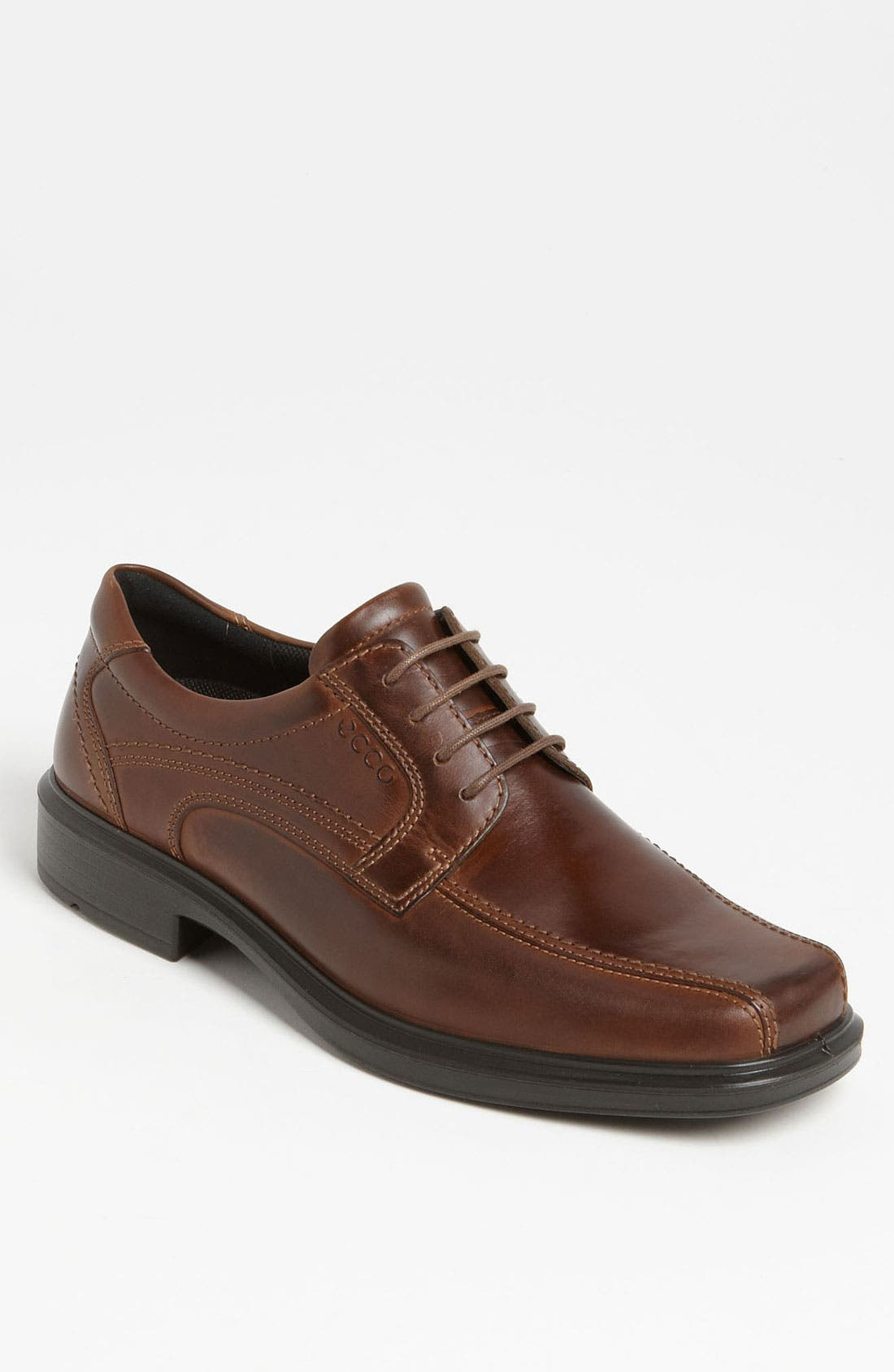 'Helsinki' Square Bike Toe Oxford,                         Main,                         color, COCOA BROWN