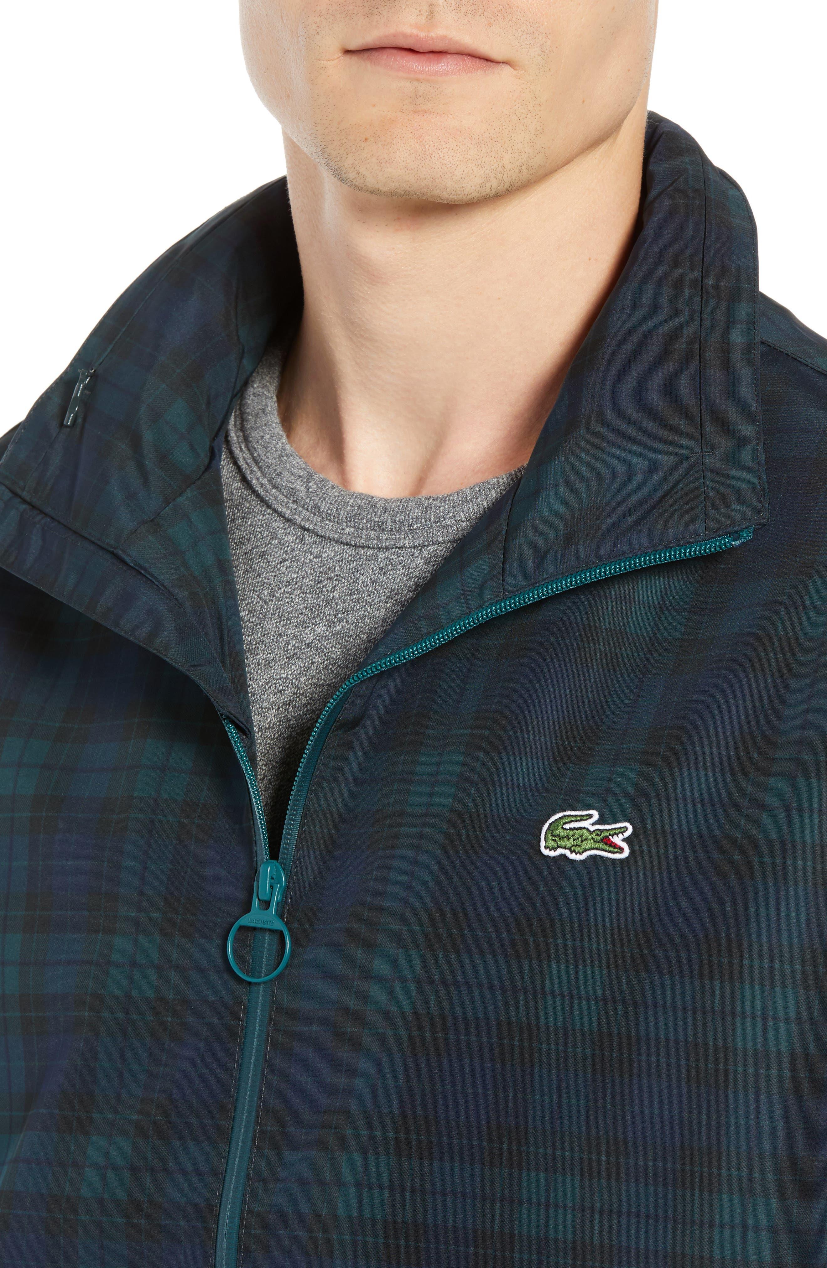 Regular Fit Check Windbreaker Jacket,                             Alternate thumbnail 4, color,                             NAVY BLUE/ SINOPLE BLACK