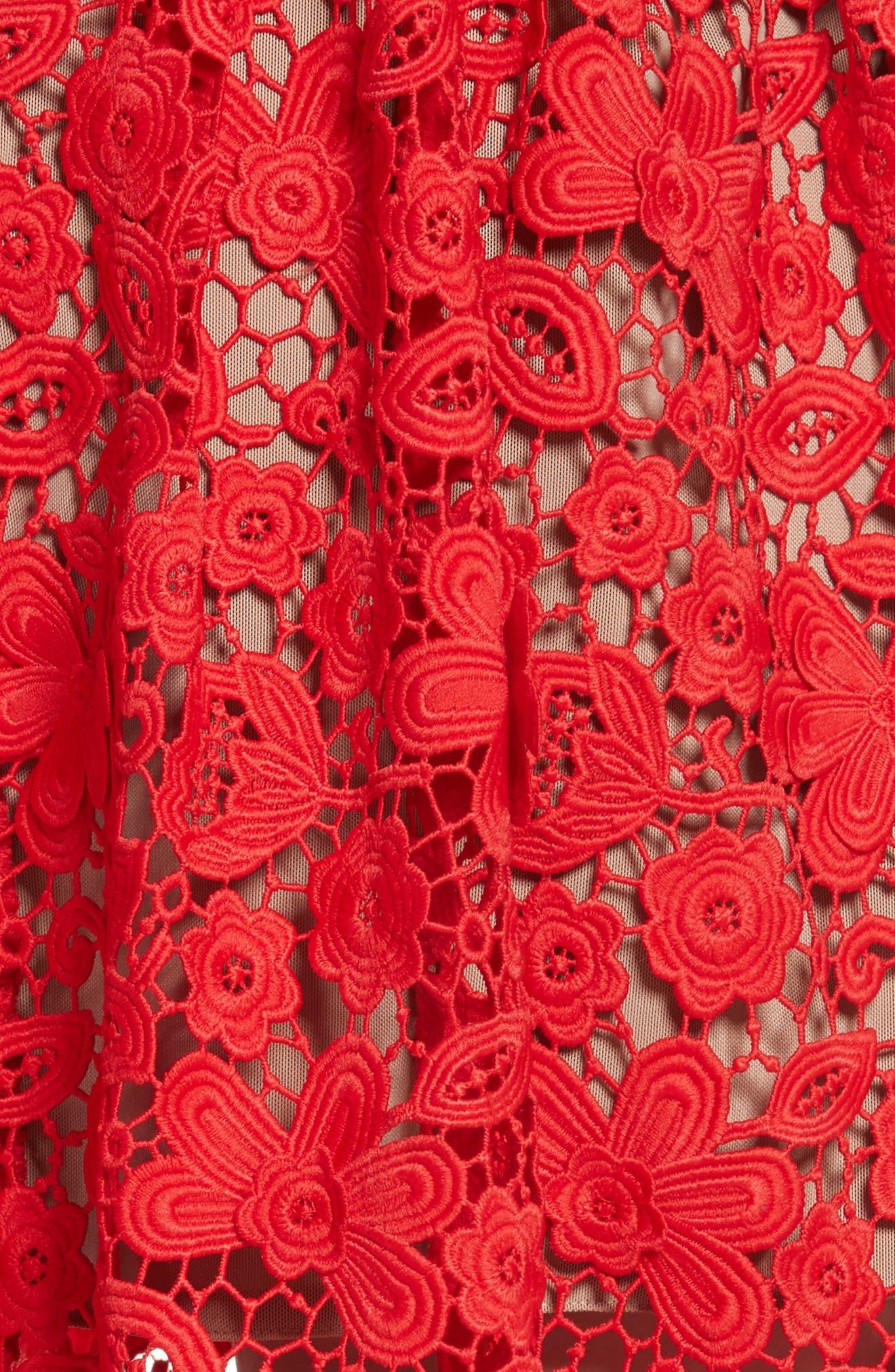 Azaelea 3D Lace Fit & Flare Dress,                             Alternate thumbnail 15, color,