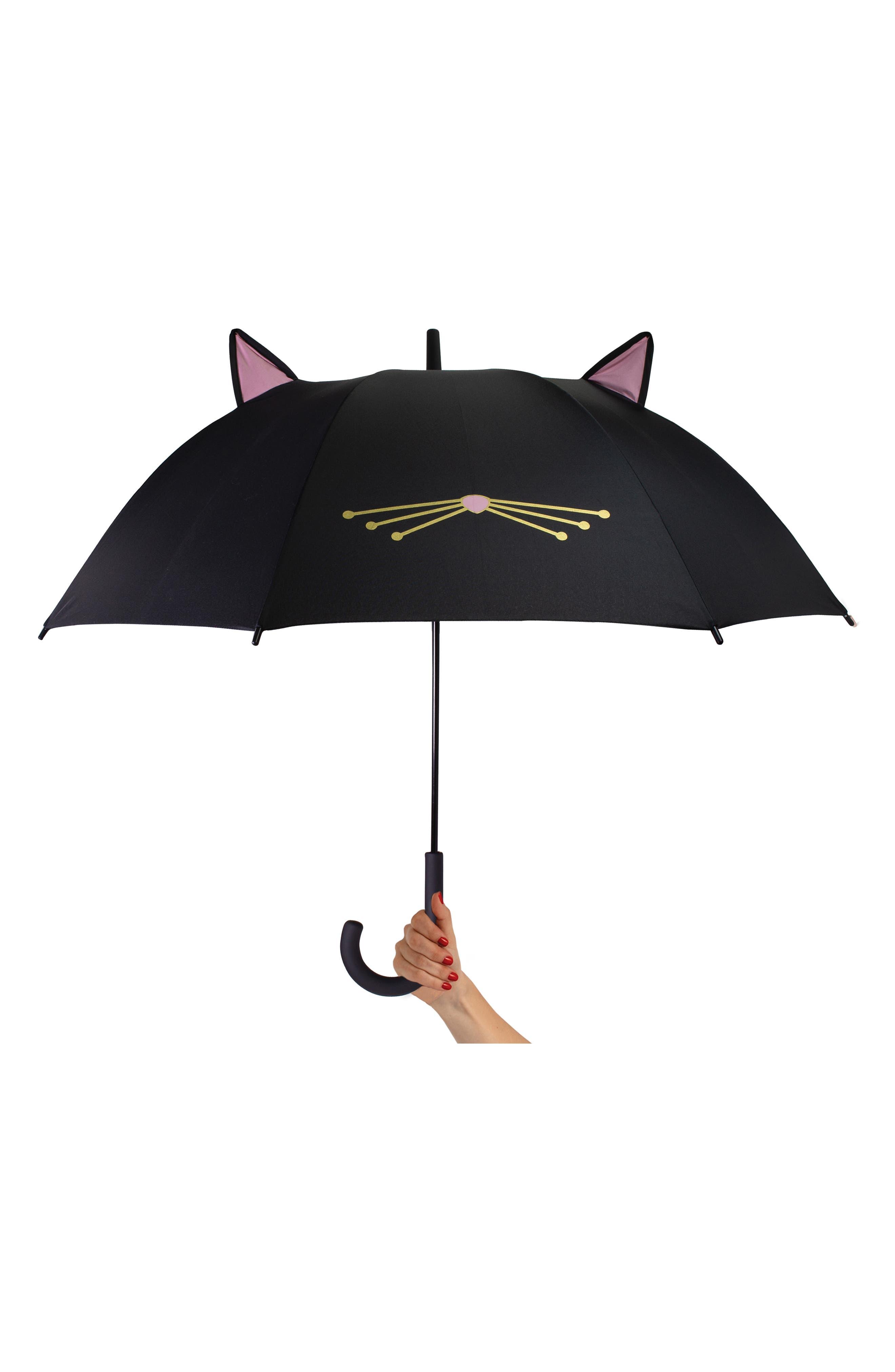 cat umbrella,                             Alternate thumbnail 2, color,                             BLACK