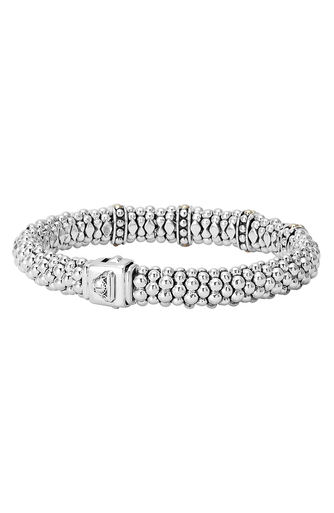 'Enso' Two-Tone Rope Caviar<sup>™</sup> Bracelet,                             Alternate thumbnail 2, color,                             SILVER/ GOLD