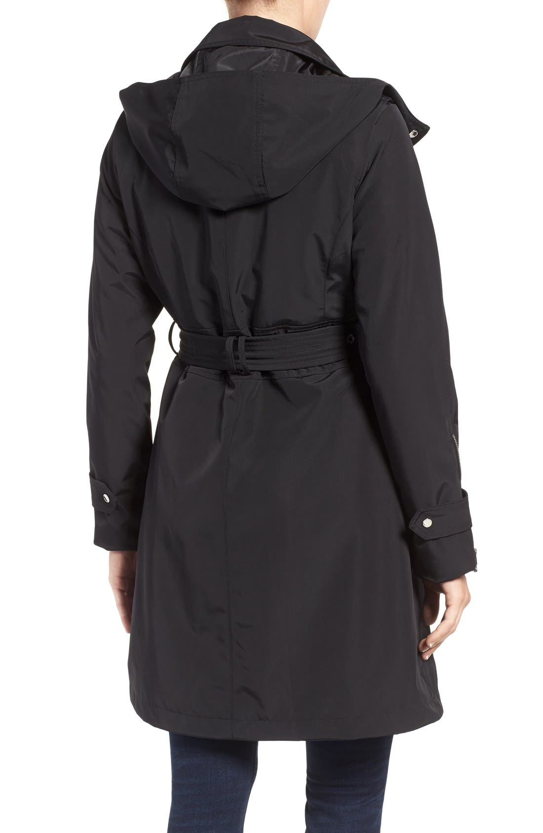 Hooded Trench Coat,                             Alternate thumbnail 2, color,                             001