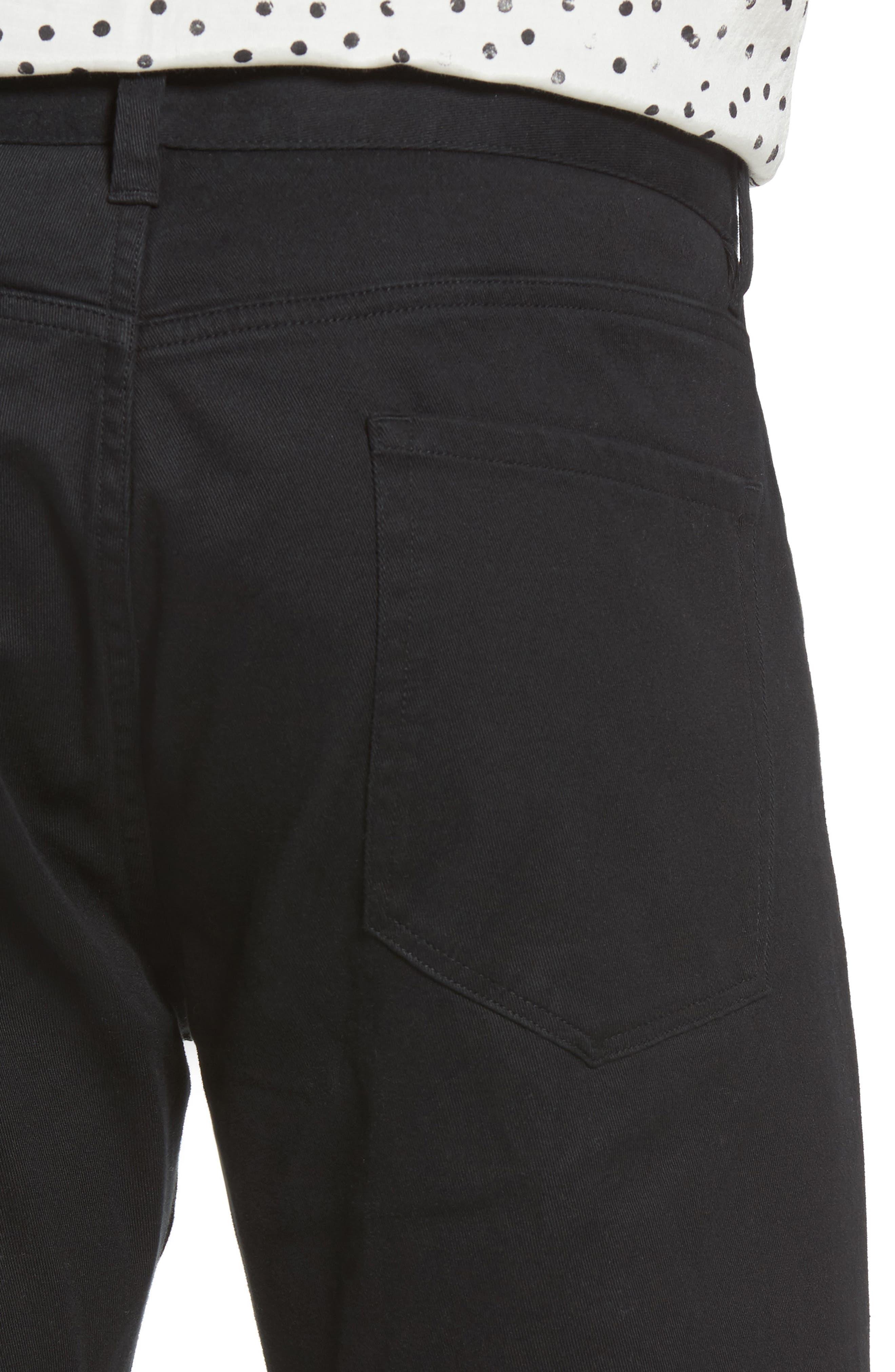 VINCE,                             Soho Slim Fit Five-Pocket Pants,                             Alternate thumbnail 4, color,                             001