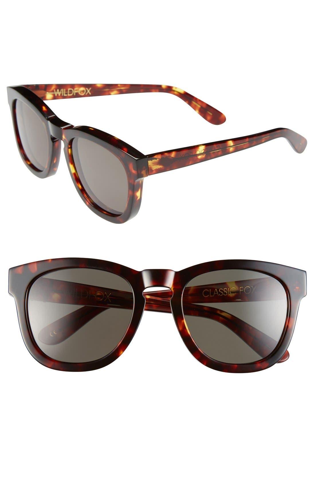'Classic Fox' 50mm Retro Sunglasses,                             Main thumbnail 11, color,