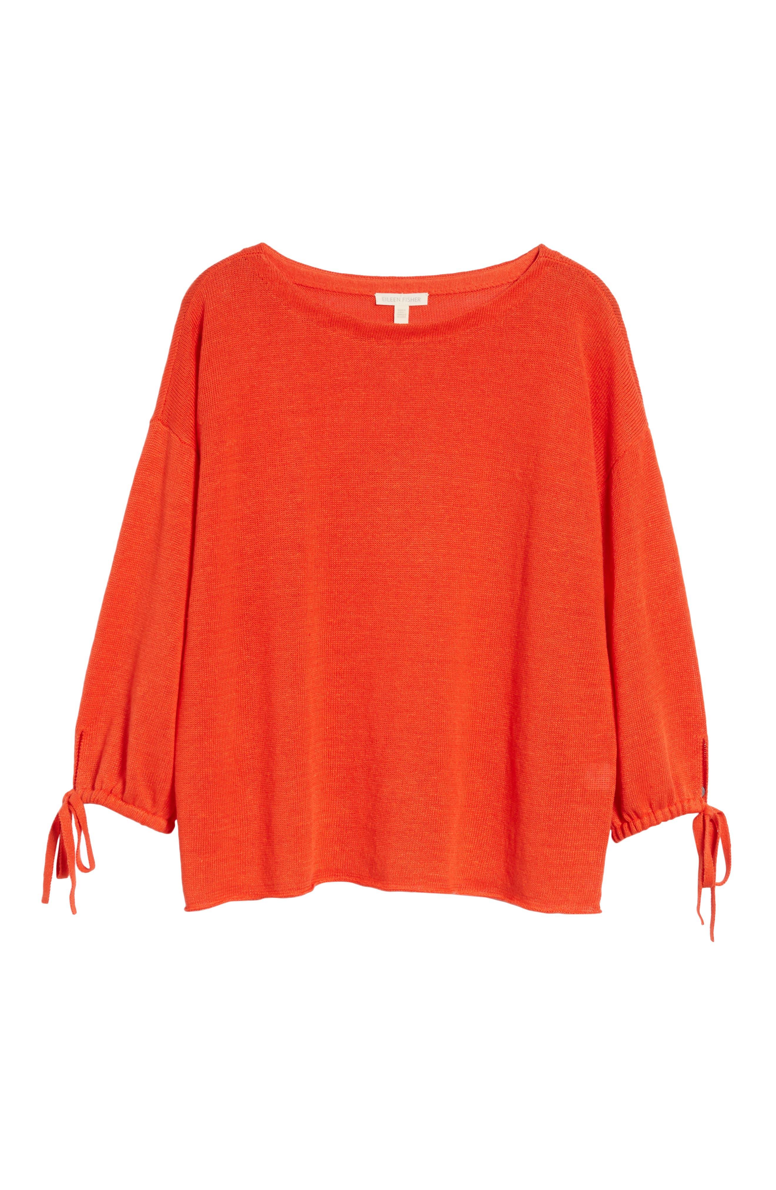 Organic Linen Sweater,                             Alternate thumbnail 24, color,
