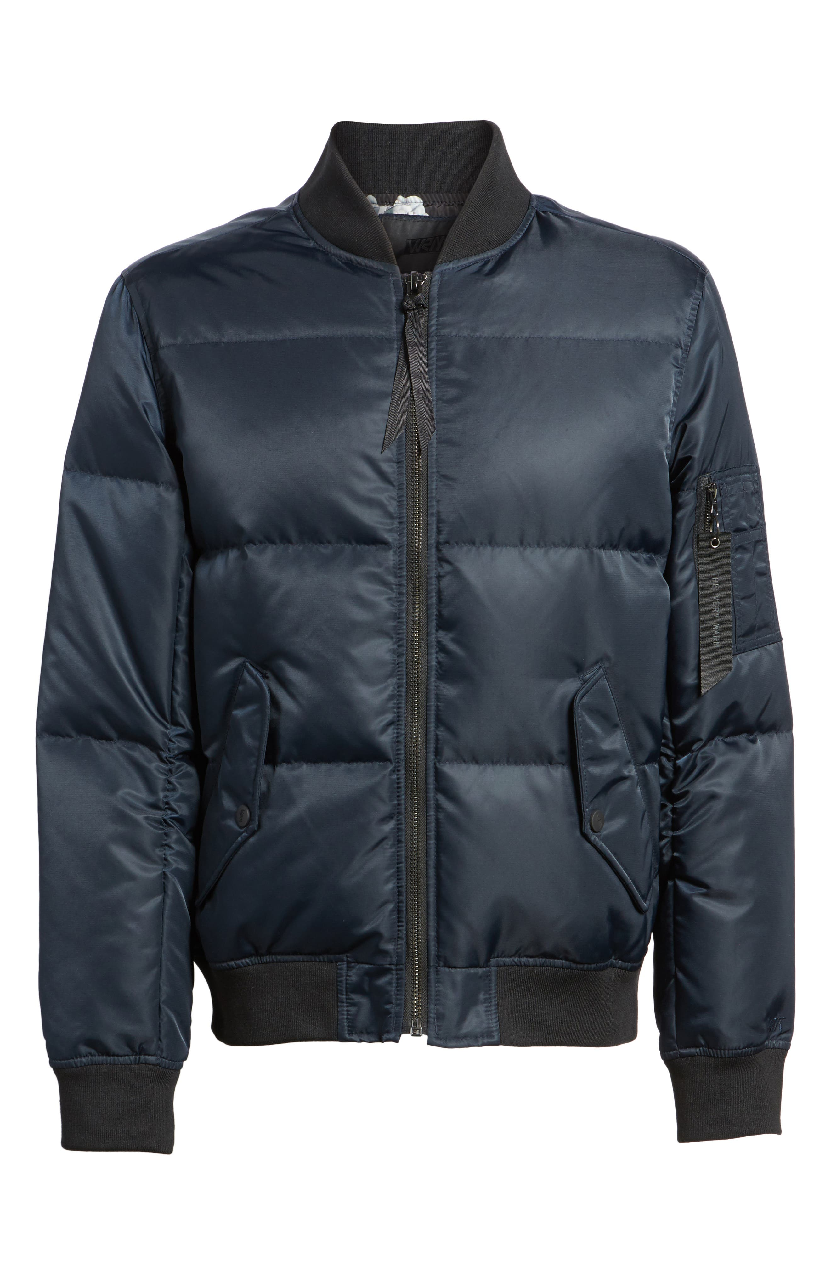 Quilted Down Bomber Jacket,                             Alternate thumbnail 19, color,