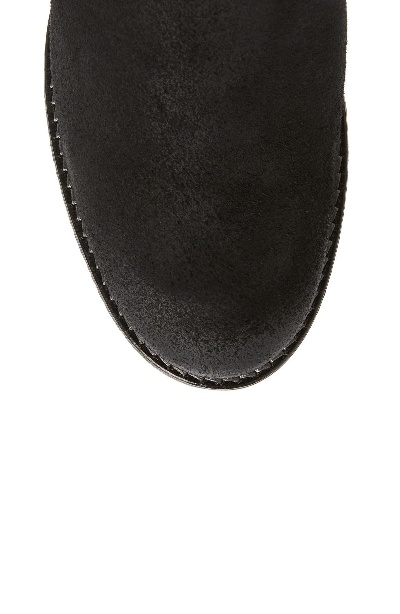 Major Waterproof Boot,                             Alternate thumbnail 5, color,                             BLACK SUEDE