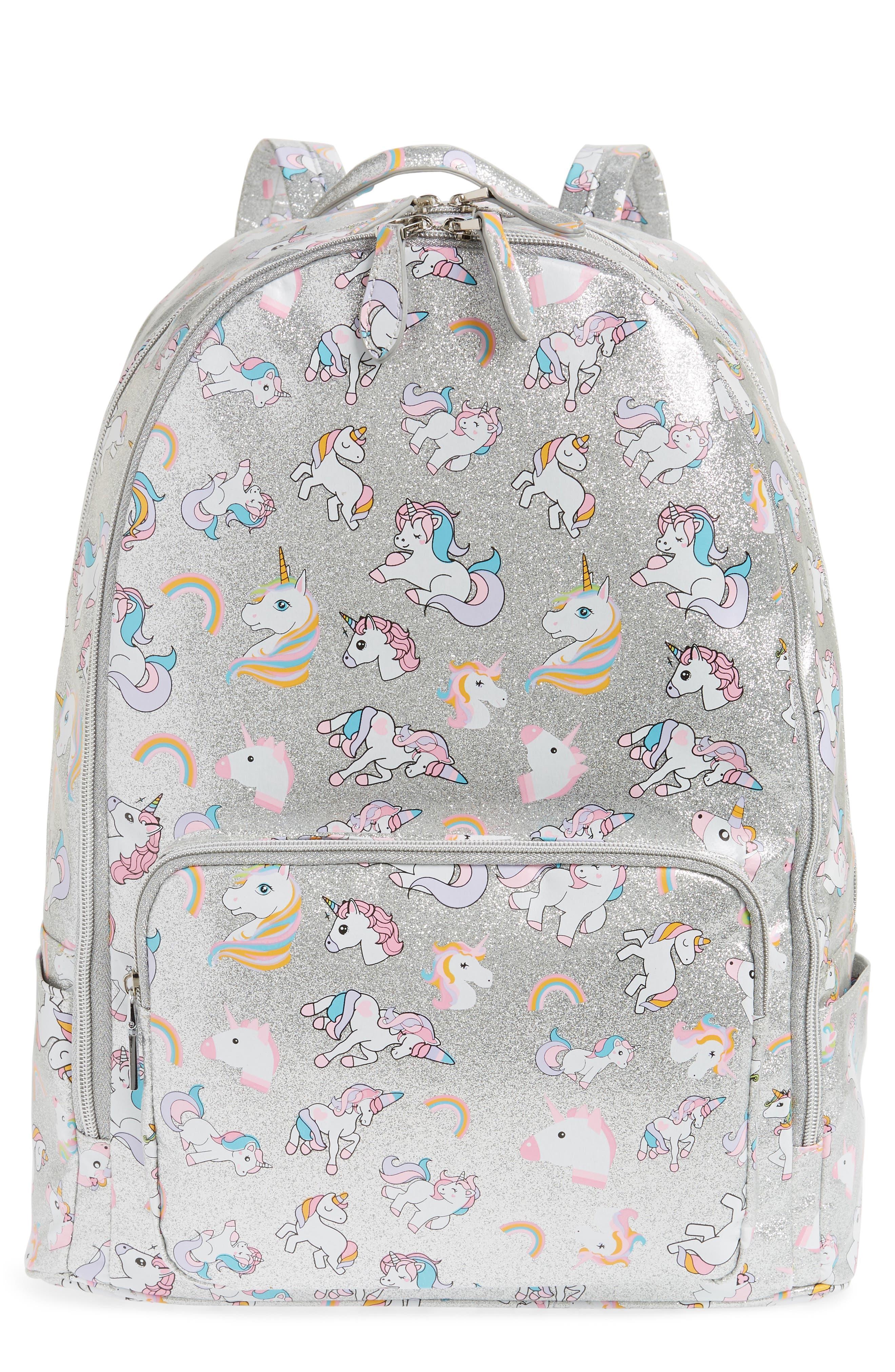 Girls Bari Lynn Glitter Unicorn Backpack  Metallic