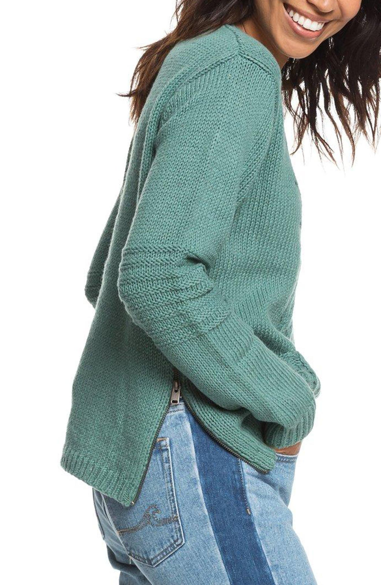 Glimpse of Romance Cable Knit Sweater,                             Alternate thumbnail 3, color,                             300