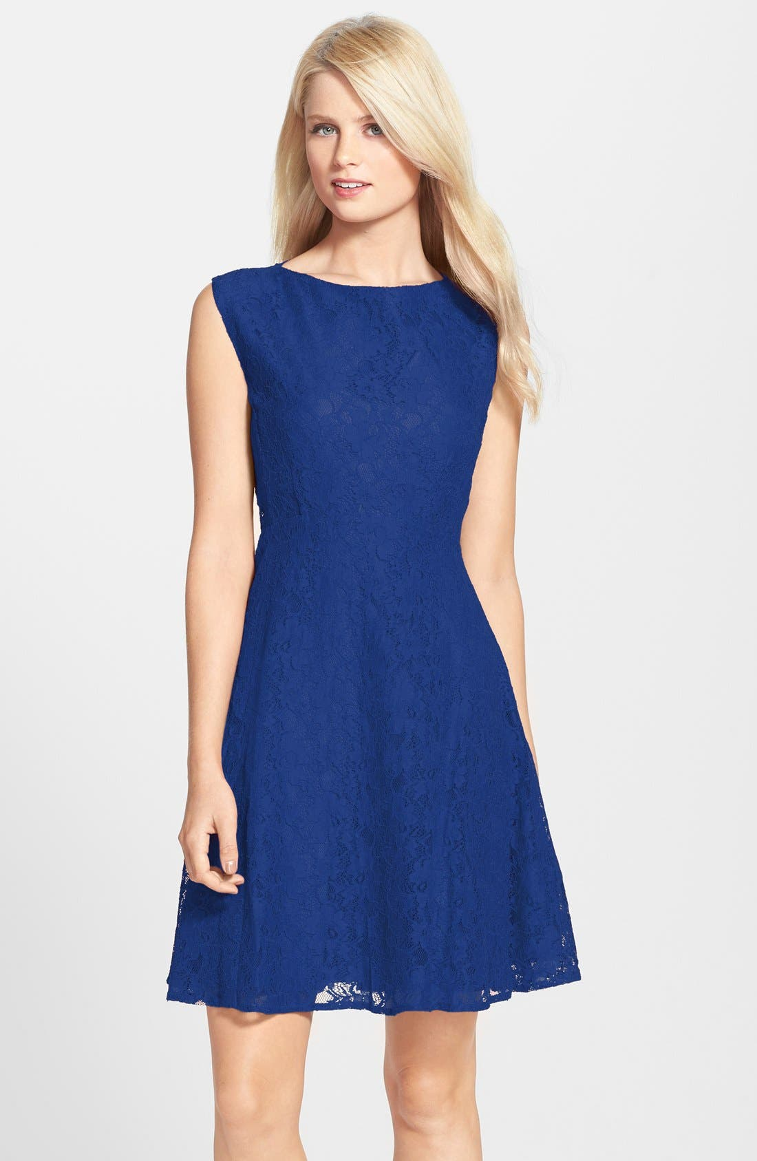Fit & Flare Dress,                             Main thumbnail 3, color,