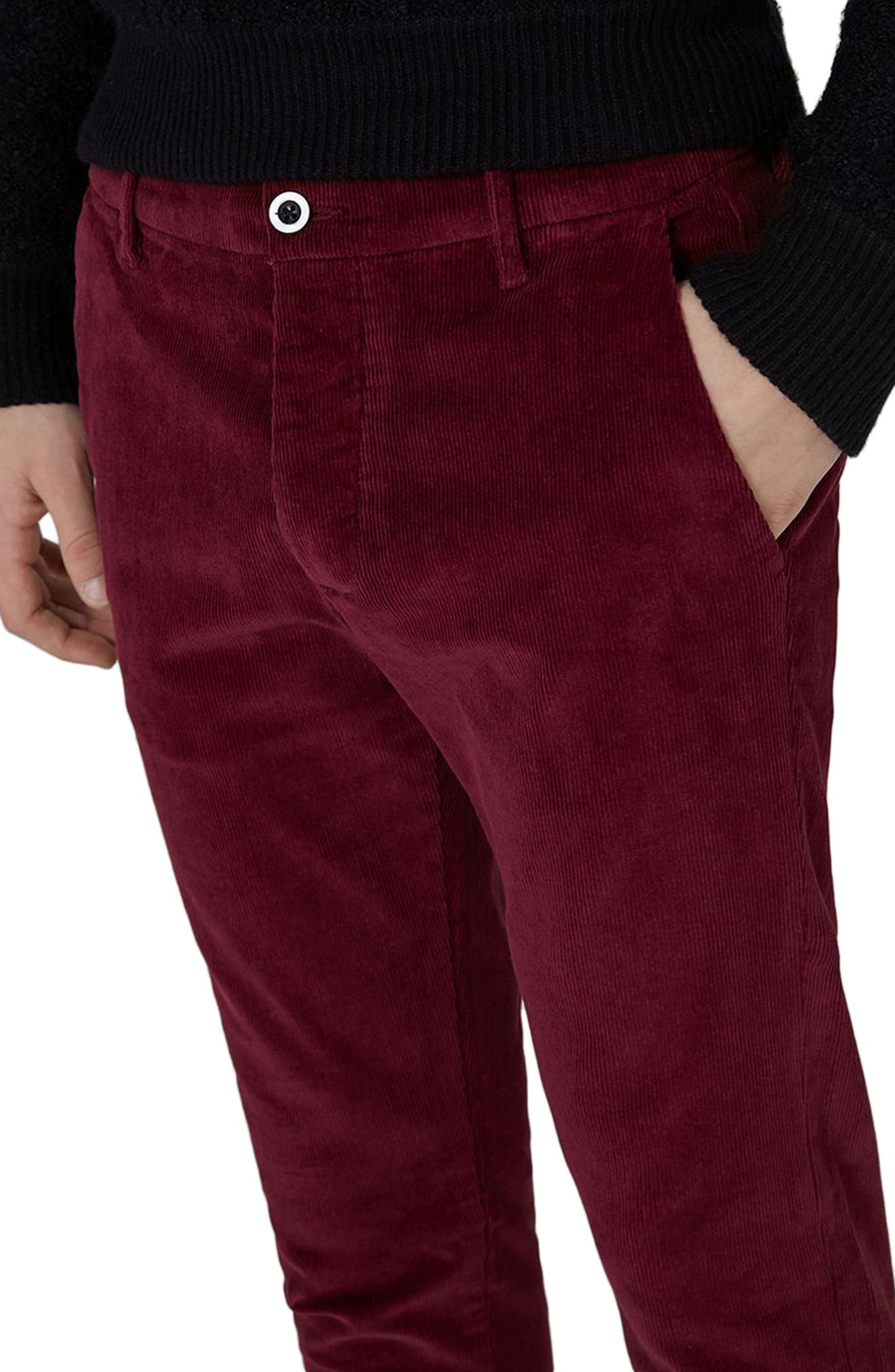 Skinny Fit Corduroy Trousers,                             Alternate thumbnail 6, color,