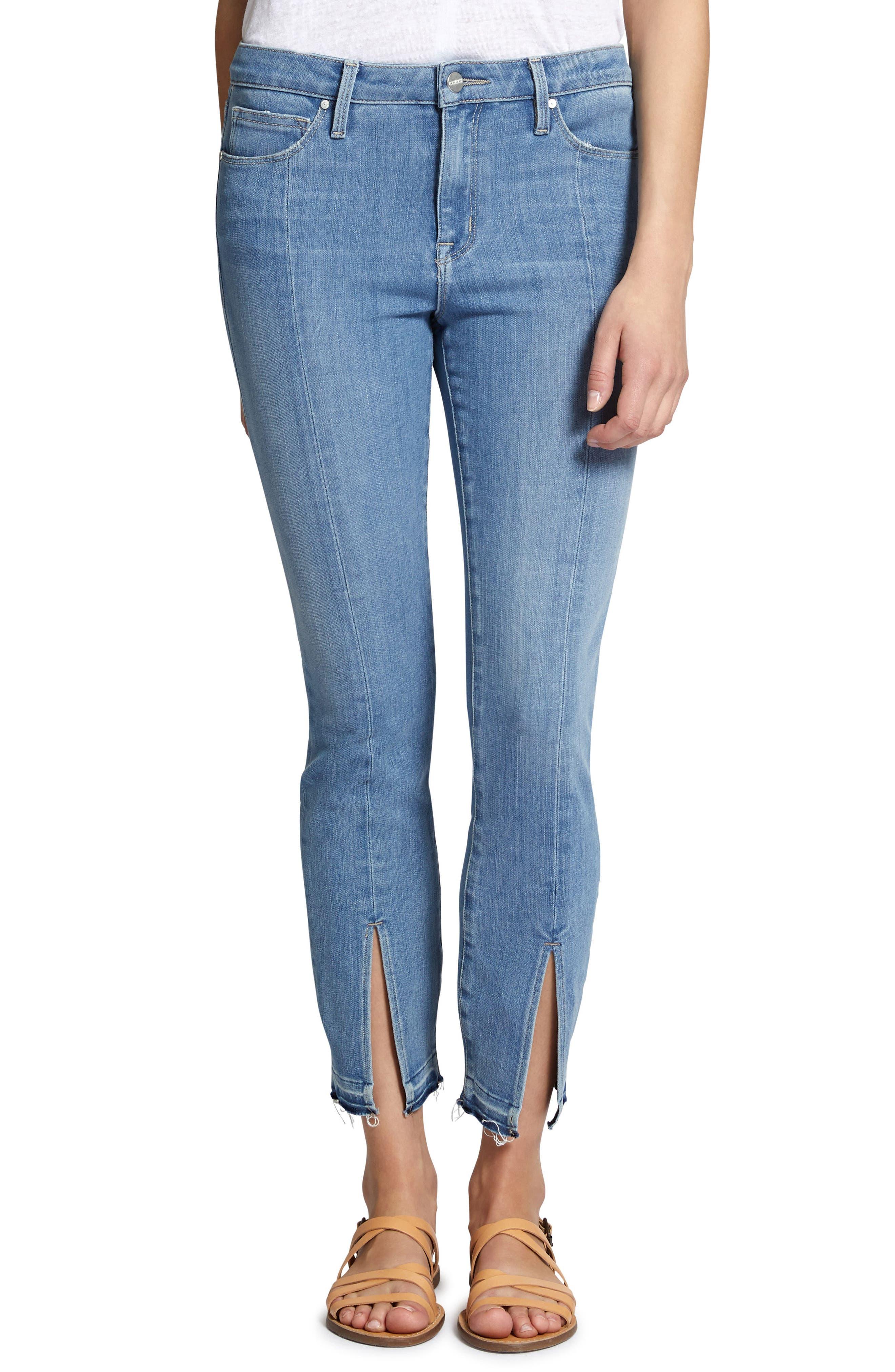 Robbie Spring Slit Jeans,                         Main,                         color, 421