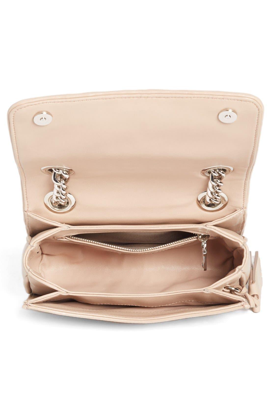 Small Matelassé Leather Shoulder Bag,                             Alternate thumbnail 18, color,