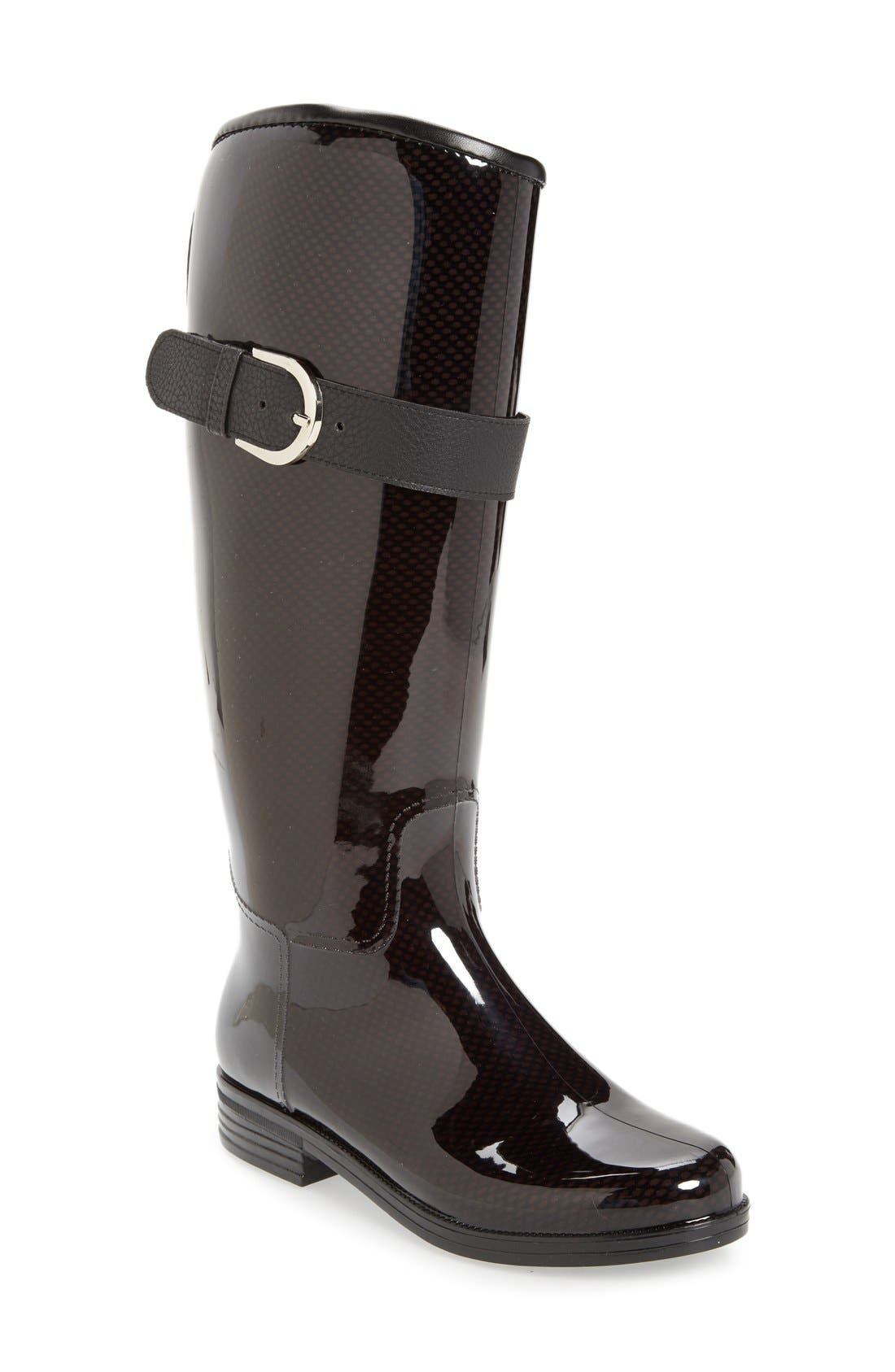 'Bristol' Weatherproof Knee High Rain Boot,                             Main thumbnail 1, color,                             001