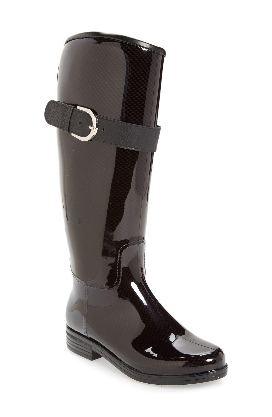 'Bristol' Weatherproof Knee High Rain Boot,                         Main,                         color, 001
