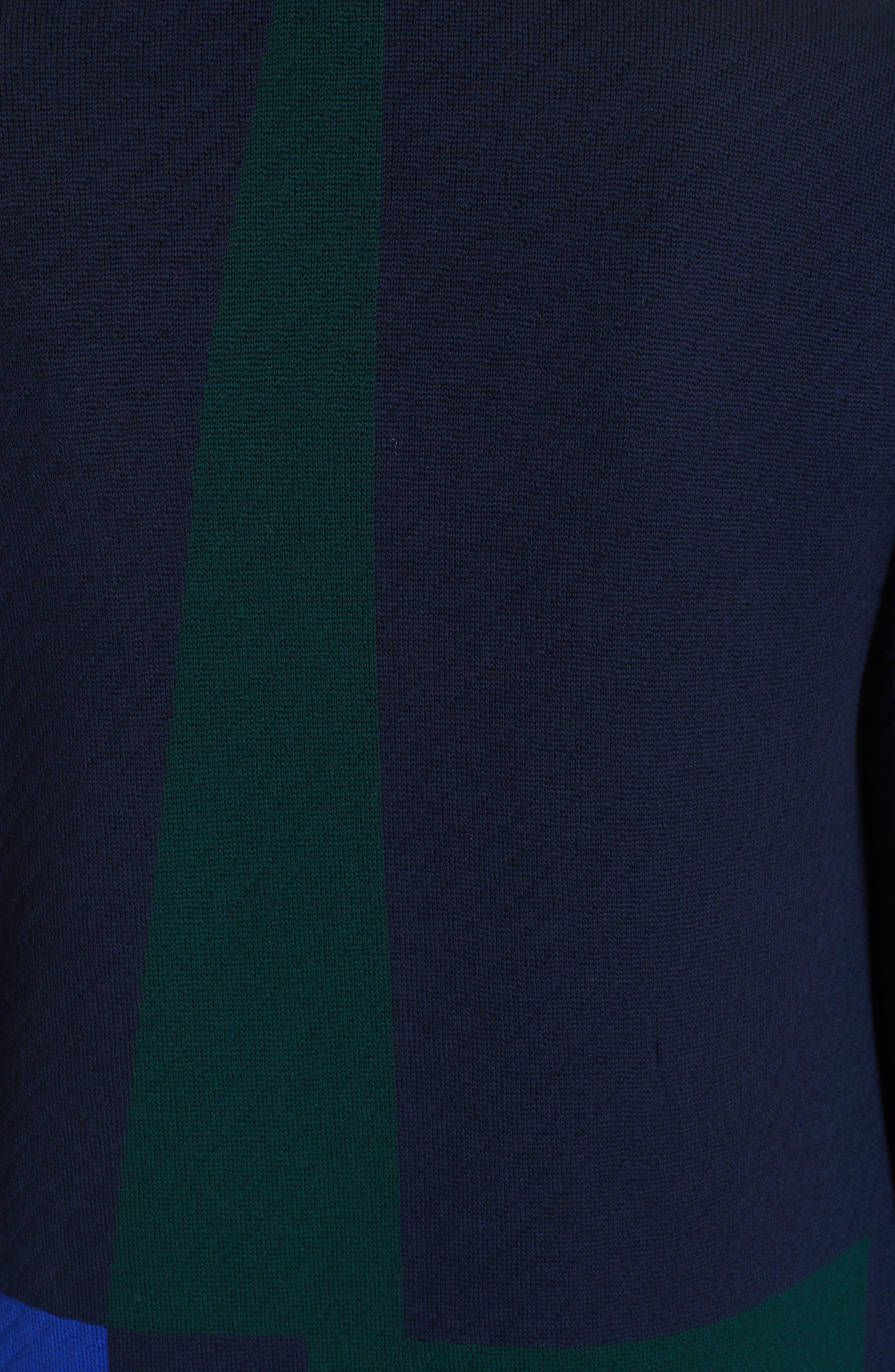 Colorblock Intarsia Wool Twill Jacket,                             Alternate thumbnail 7, color,                             NAVY MULTI