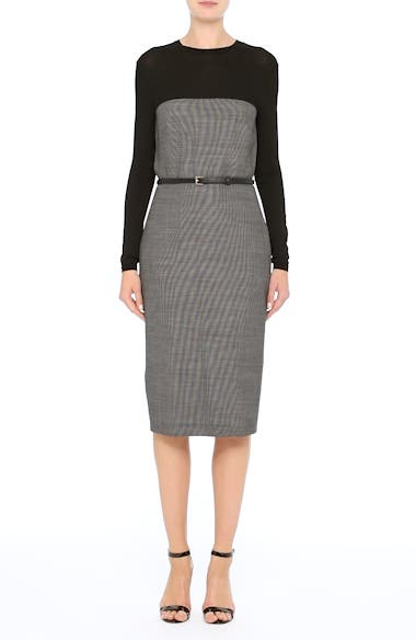 Canapa Stretch Wool Layered Sheath Dress, video thumbnail