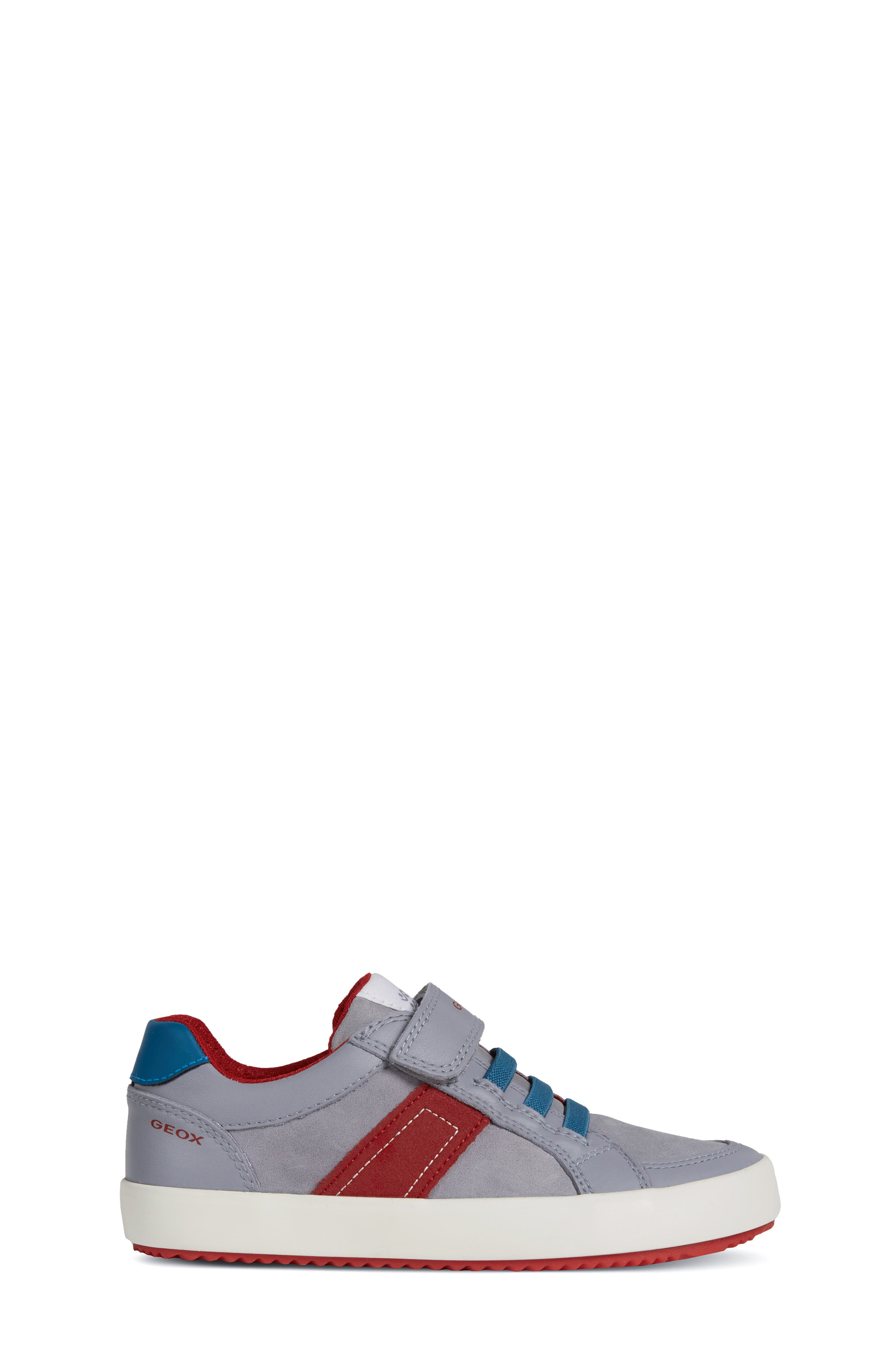 Alonisso Low Top Sneaker,                             Alternate thumbnail 3, color,                             GREY/ RED