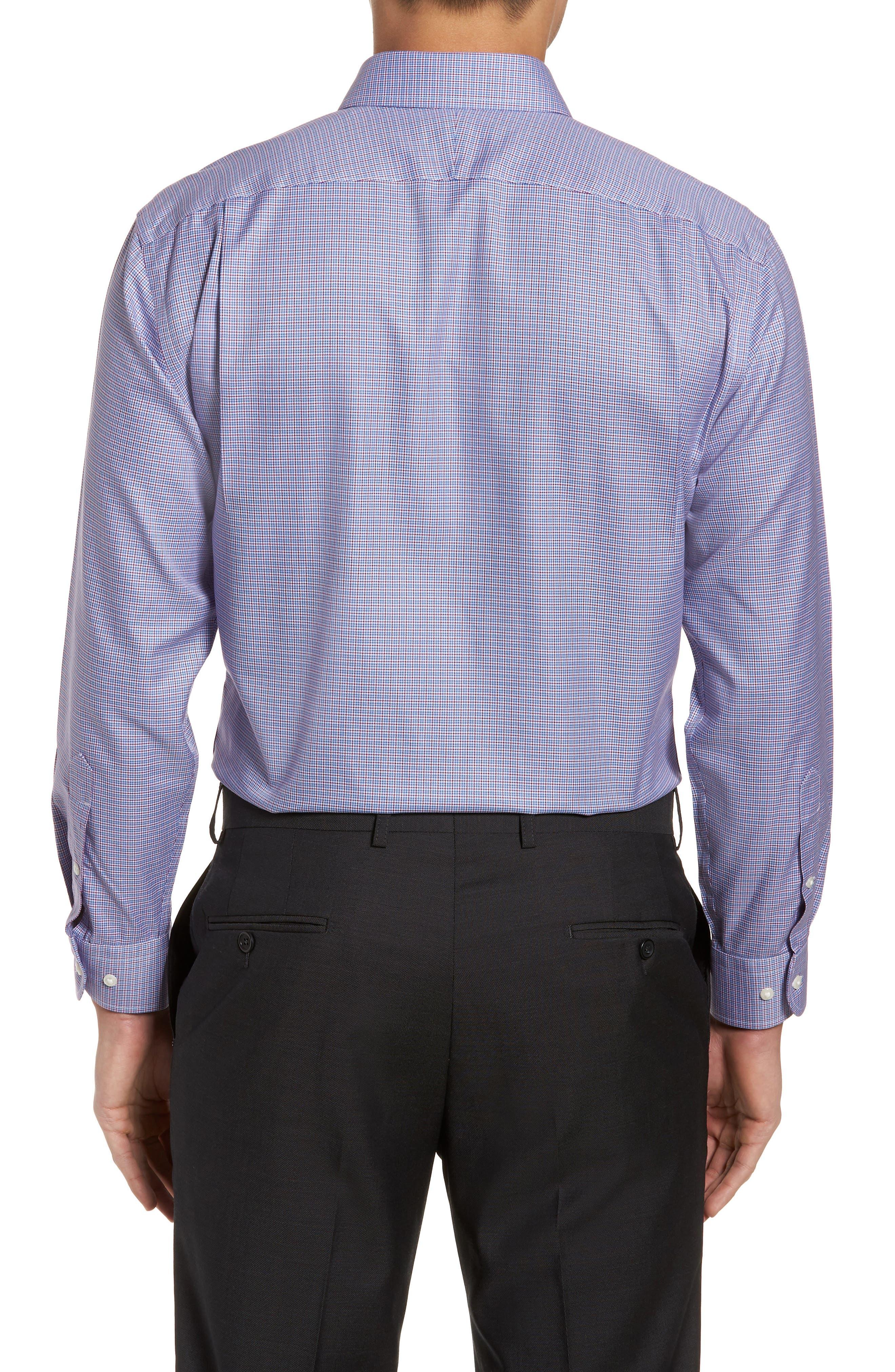 Smartcare<sup>™</sup> Trim Fit Check Dress Shirt,                             Alternate thumbnail 3, color,                             601