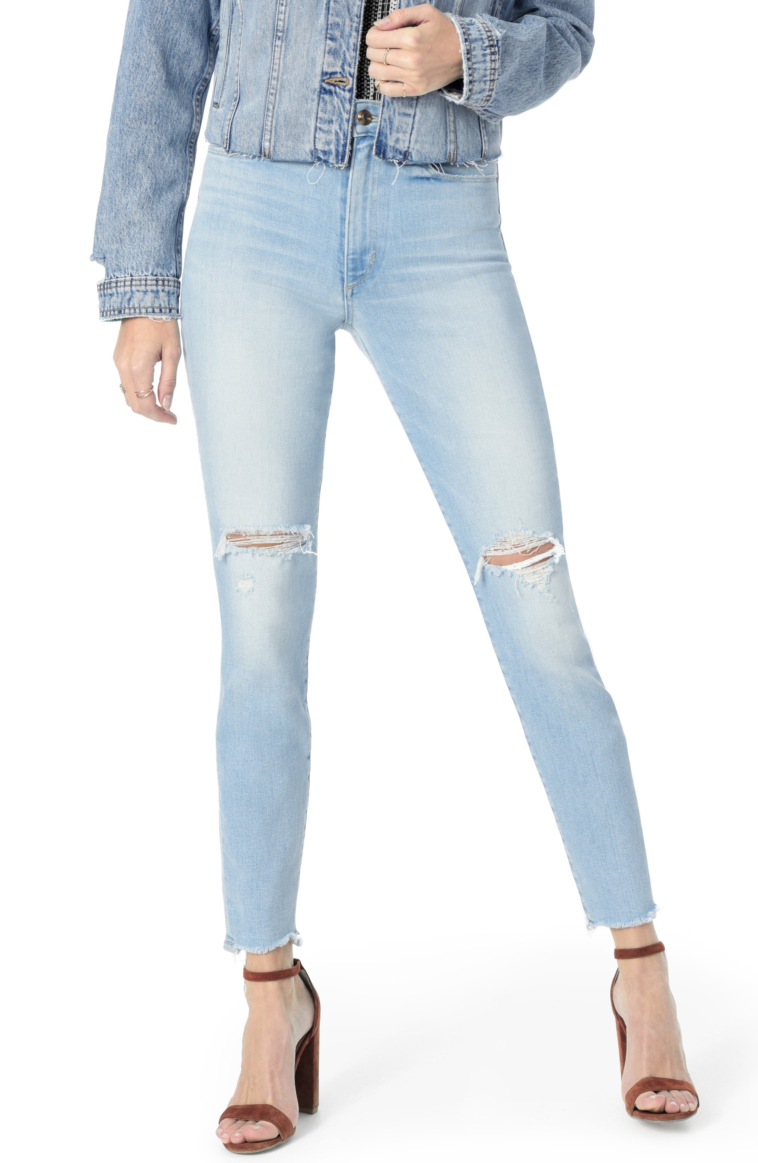 JOE'S,                             Icon Ripped Ankle Skinny Jeans,                             Main thumbnail 1, color,                             DENICE