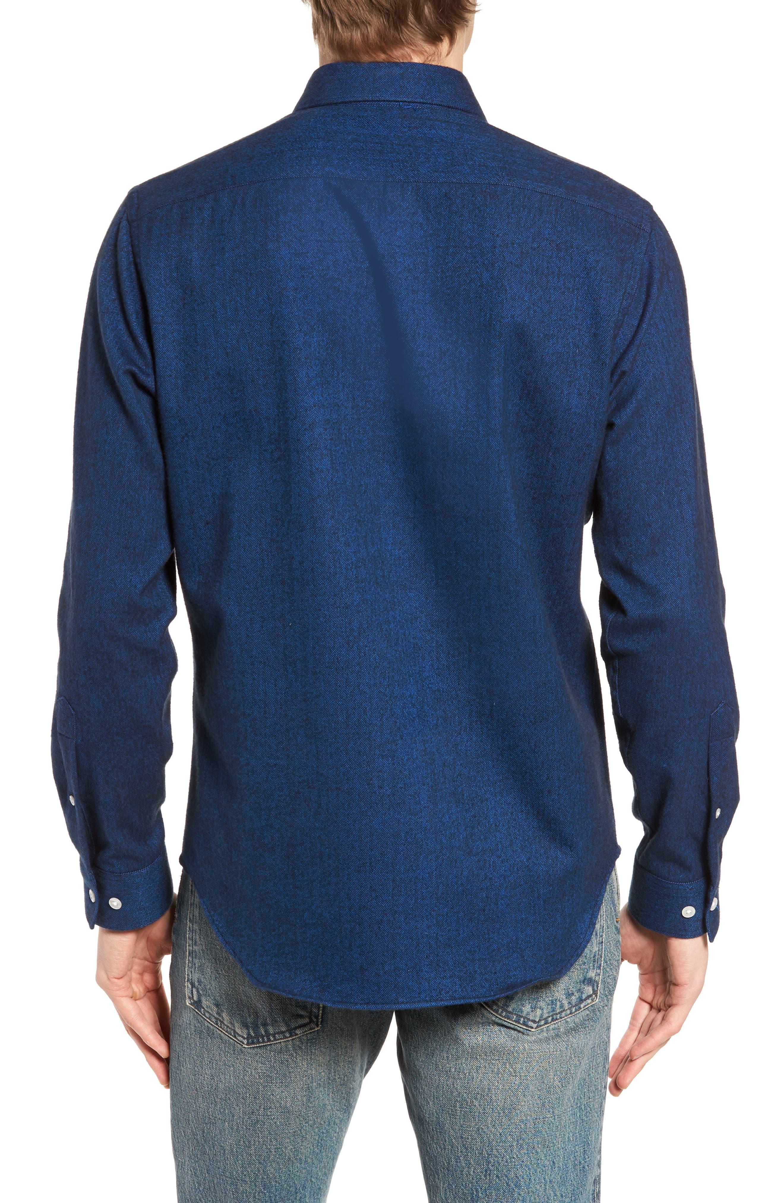 Grafton Slim Fit Herringbone Sport Shirt,                             Alternate thumbnail 2, color,                             410