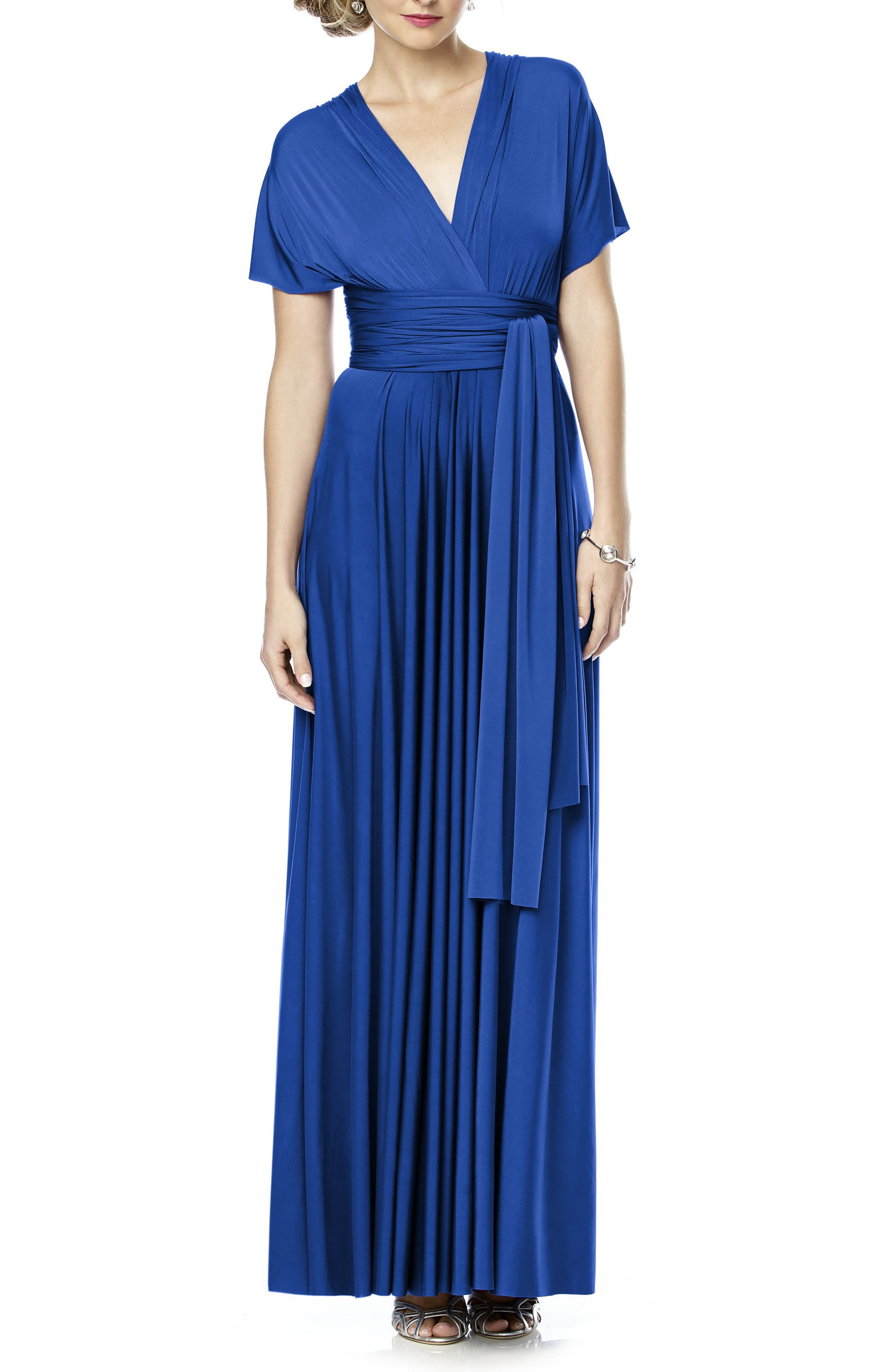 Convertible Wrap Tie Surplice Jersey Gown,                             Alternate thumbnail 12, color,