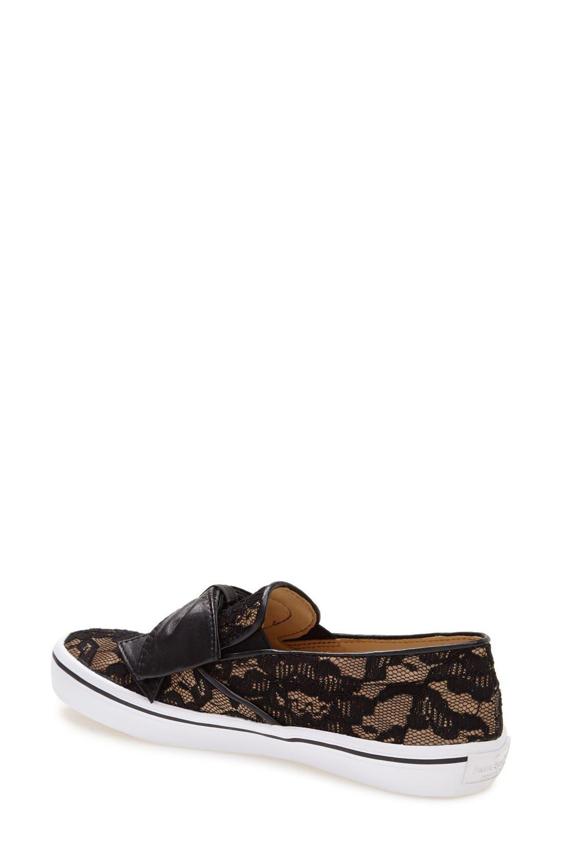 KATE SPADE NEW YORK,                             'delise' slip-on sneaker,                             Alternate thumbnail 3, color,                             001