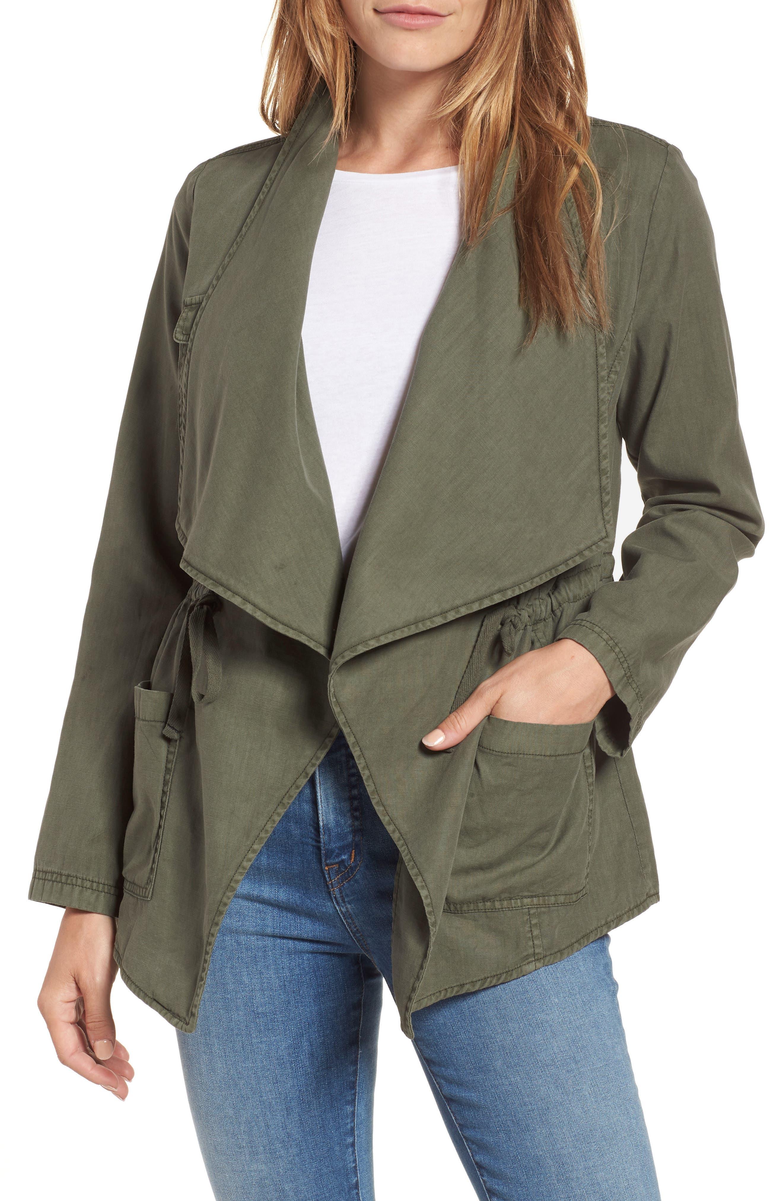 Draped Utility Jacket,                         Main,                         color,