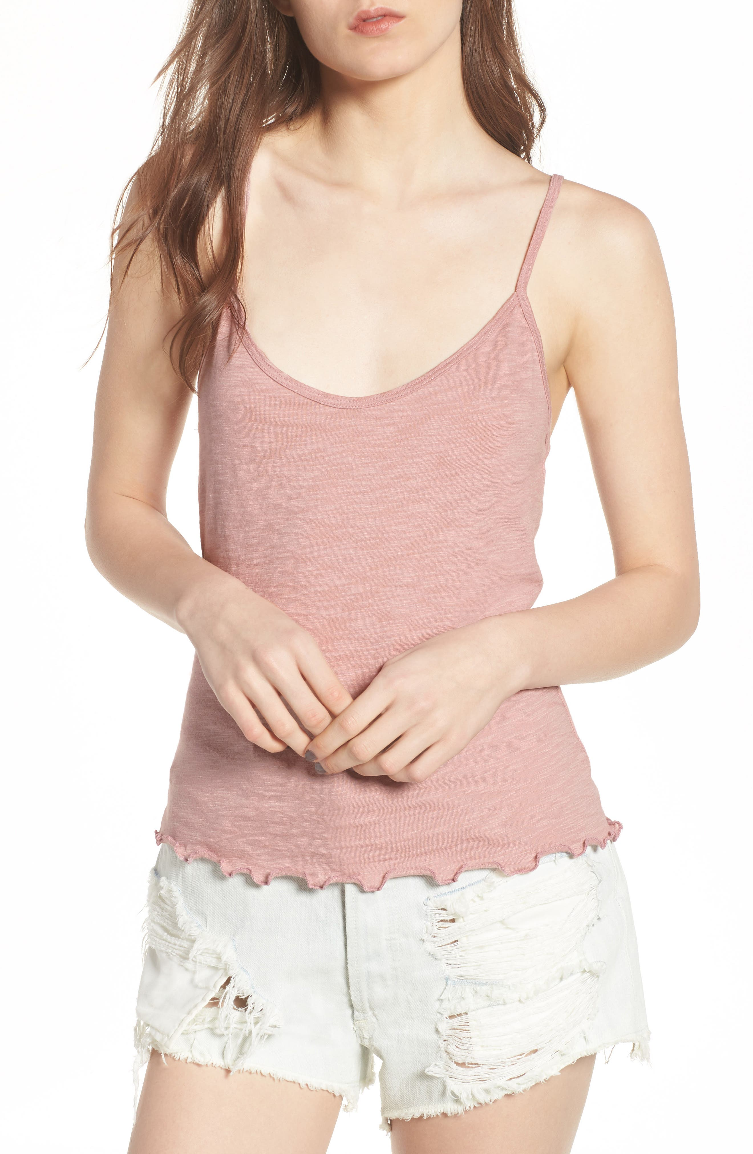 Lettuce Hem Camisole,                         Main,                         color,