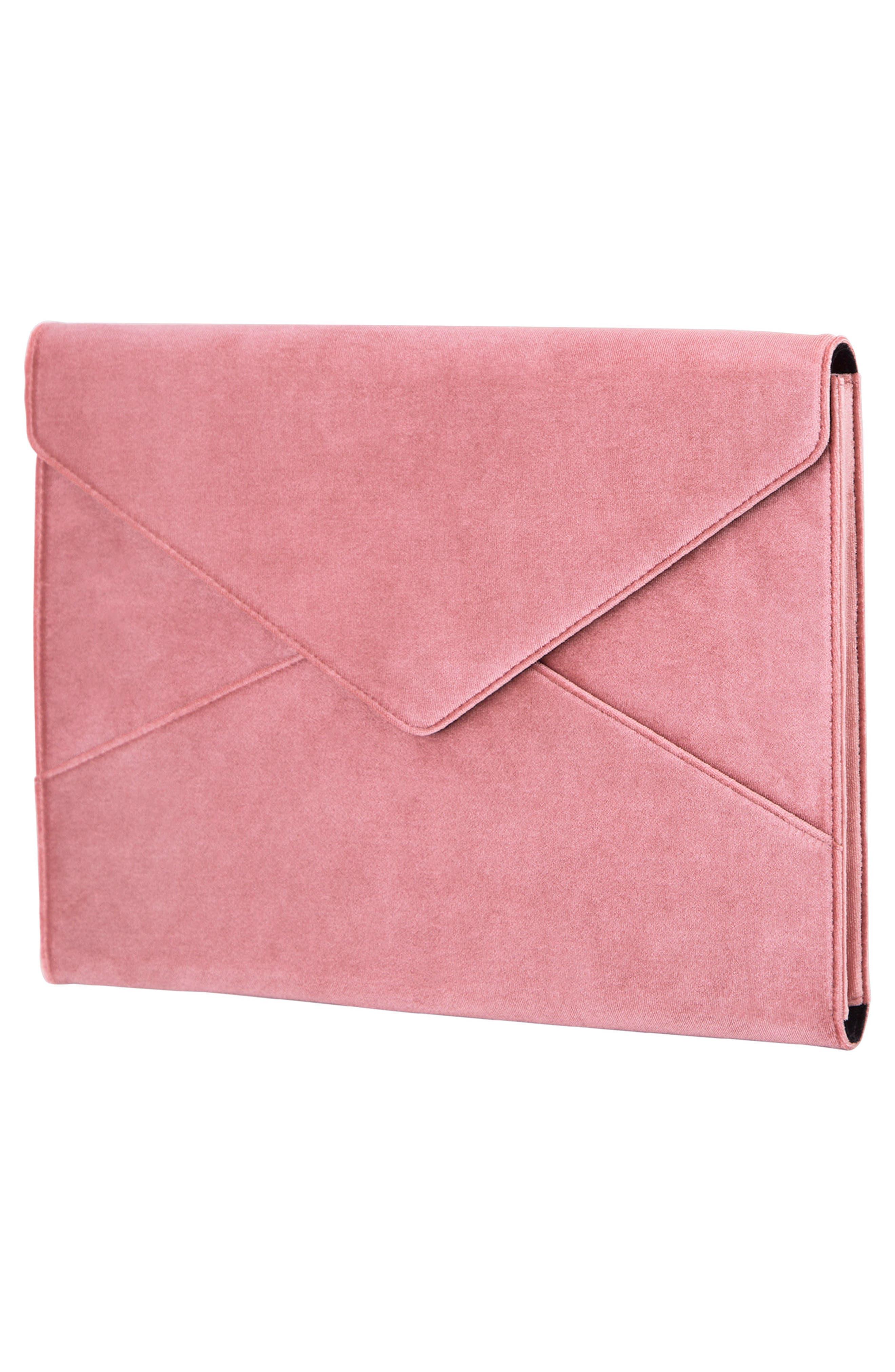 Rose Velvet Laptop Clutch,                             Alternate thumbnail 4, color,                             650