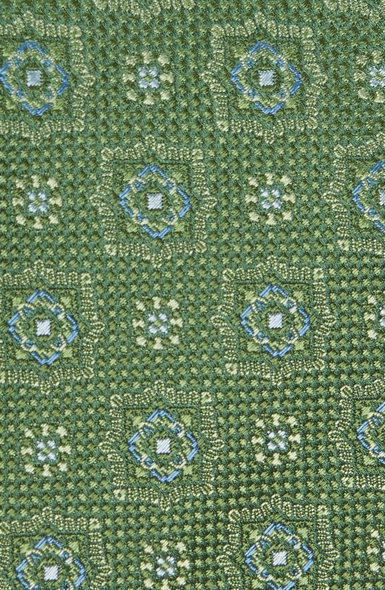 Medallion Silk Tie,                             Alternate thumbnail 2, color,                             314