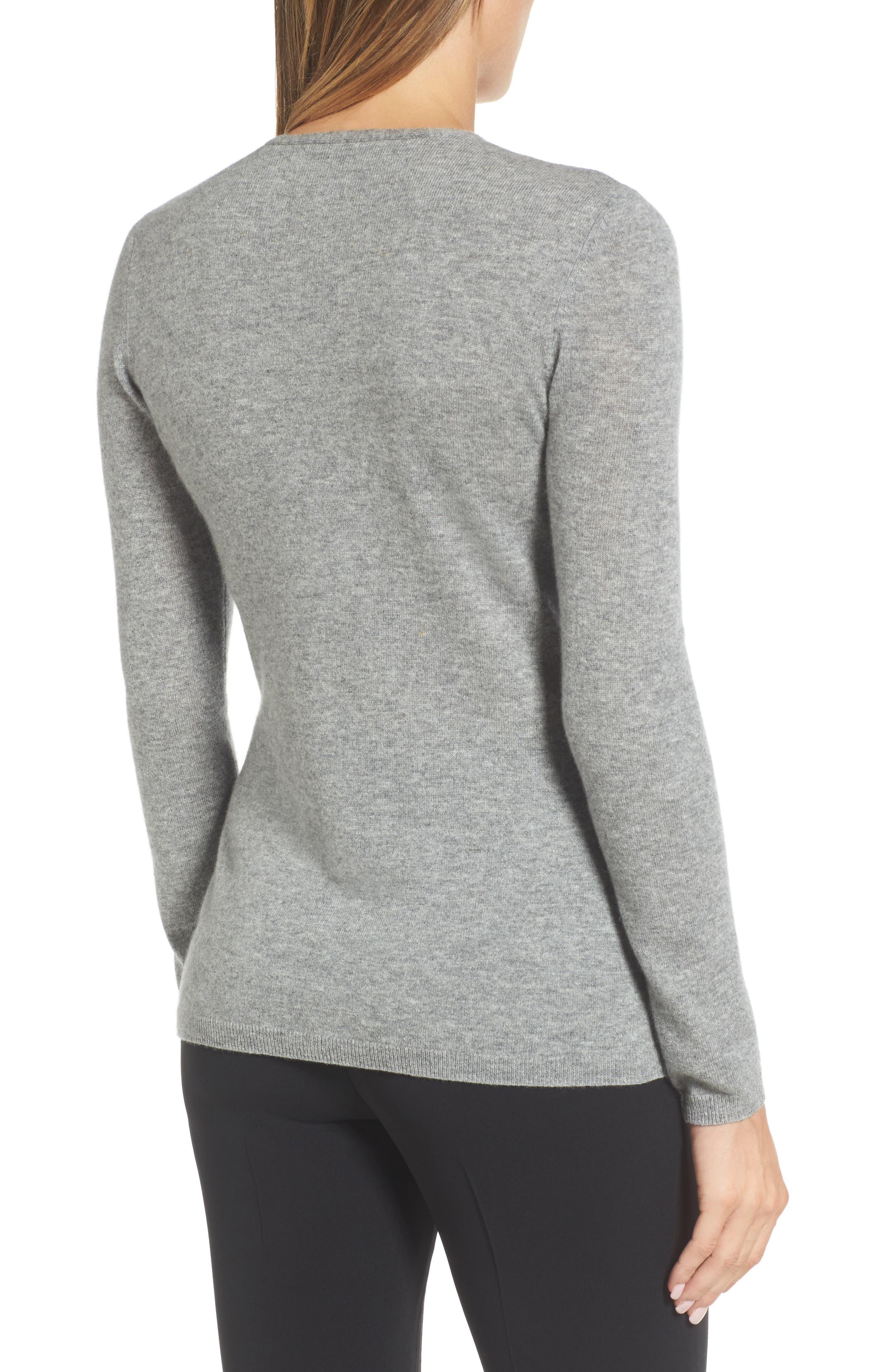 Cashmere V-Neck Sweater,                             Alternate thumbnail 2, color,                             030