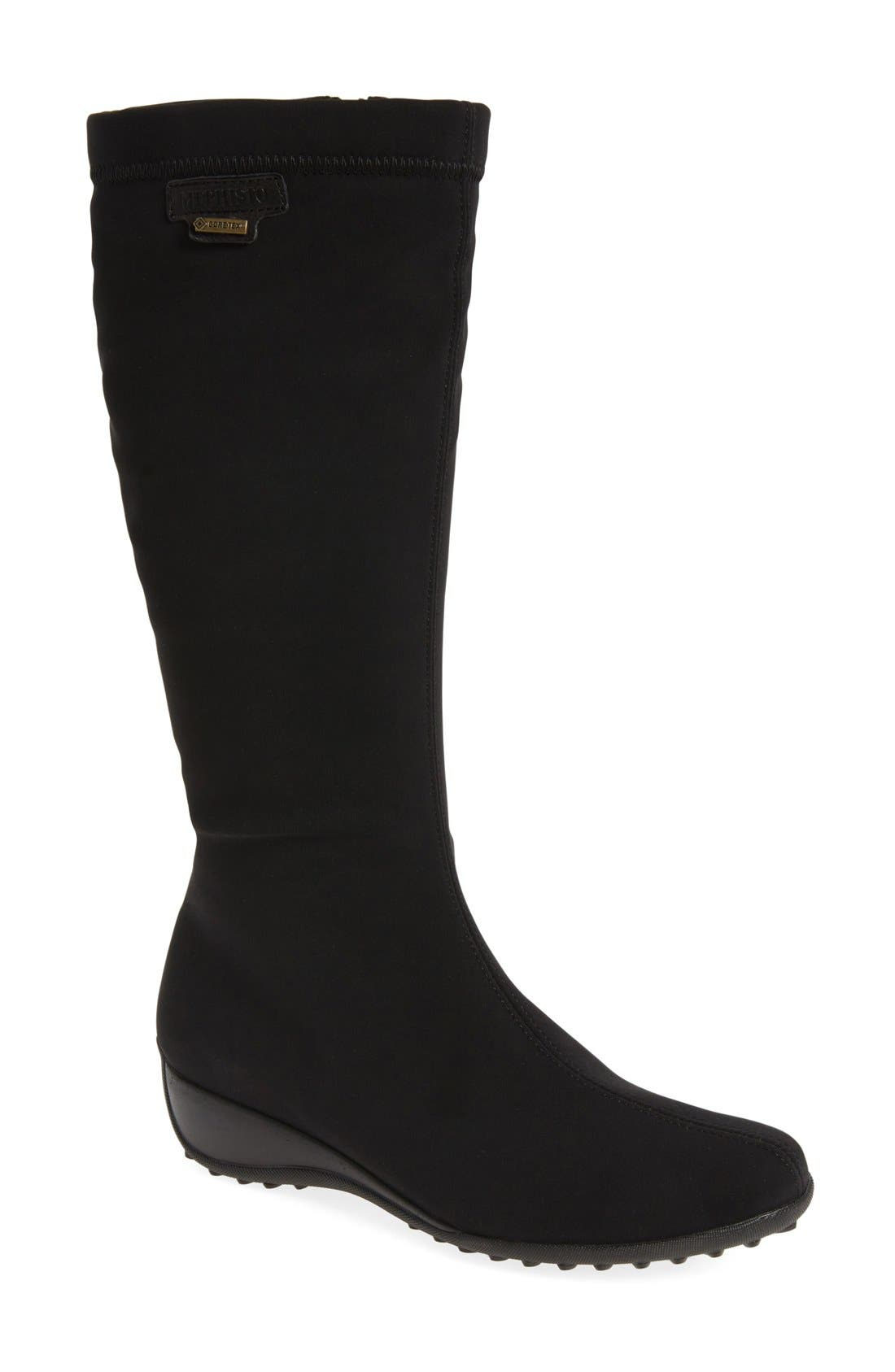 'Linda' Waterproof Stretch Boot,                             Main thumbnail 1, color,                             009