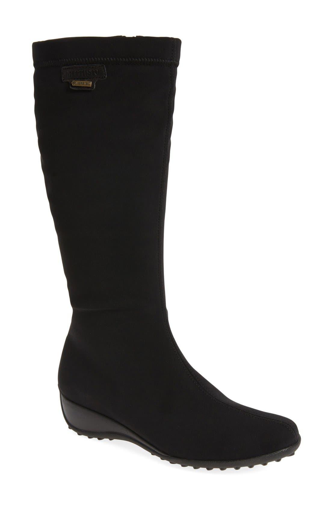 'Linda' Waterproof Stretch Boot,                         Main,                         color, 009