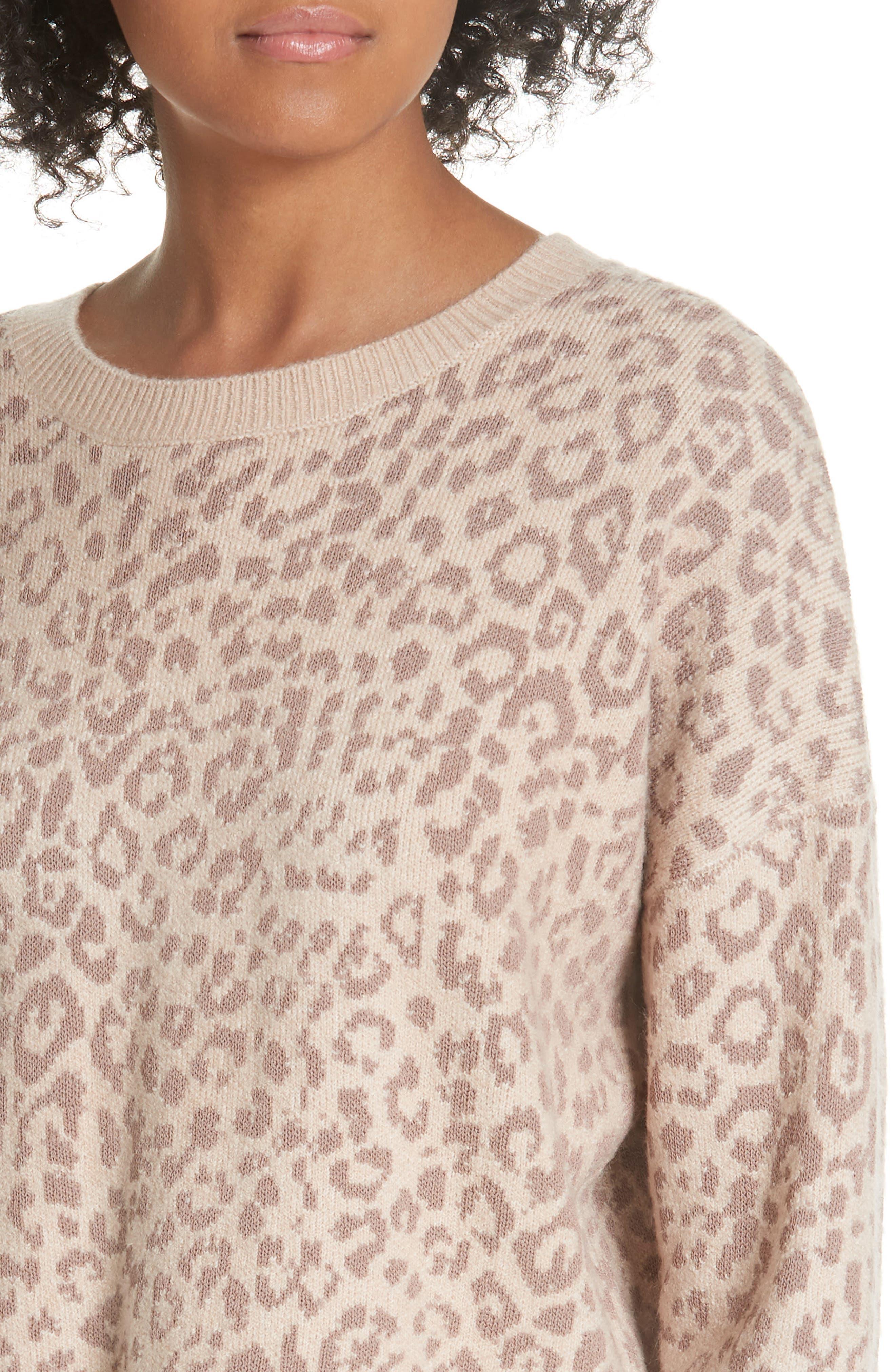 Leopard Print Sweater,                             Alternate thumbnail 4, color,                             250