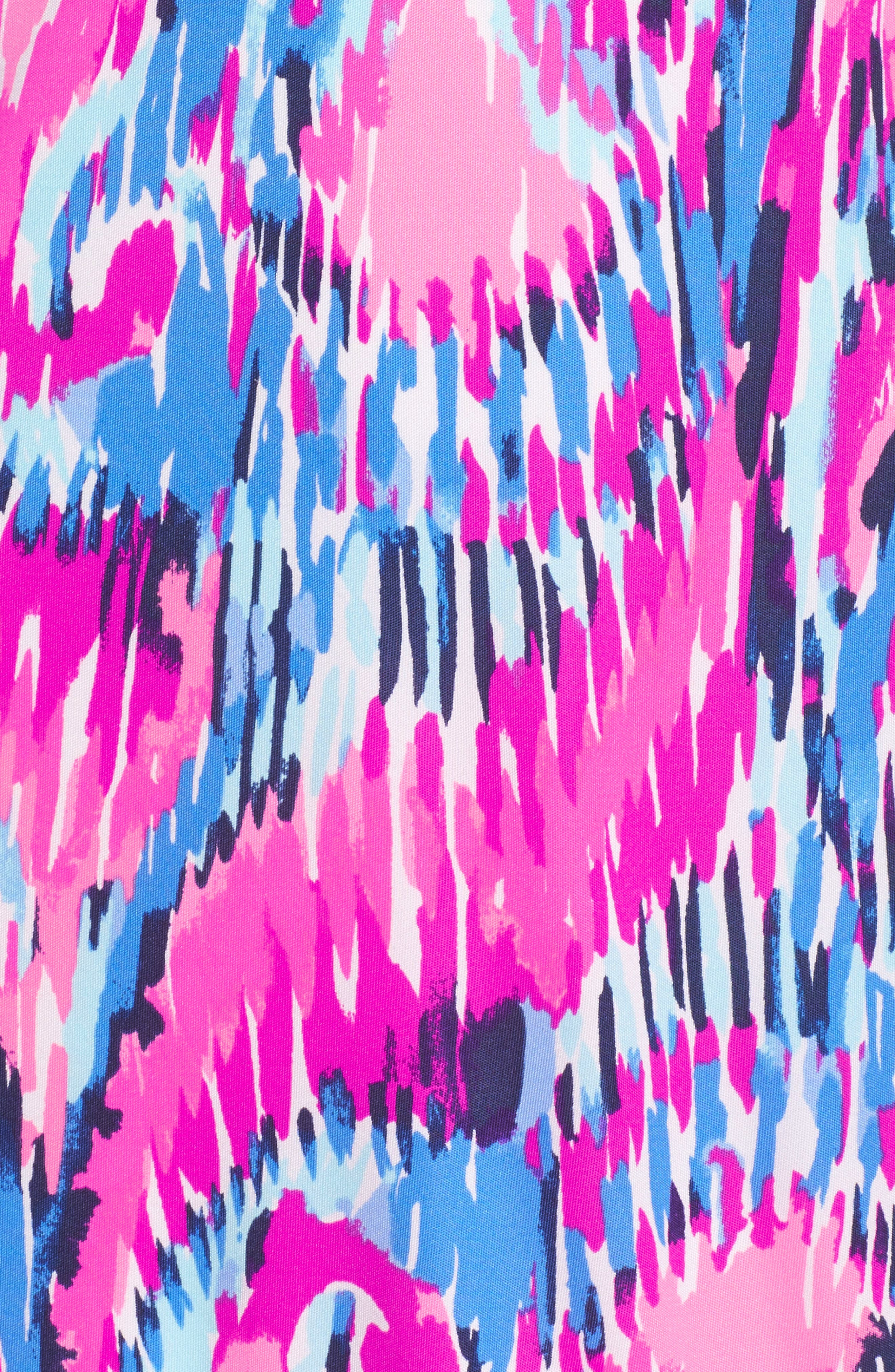 Amante One-Shoulder Silk Dress,                             Alternate thumbnail 6, color,                             650