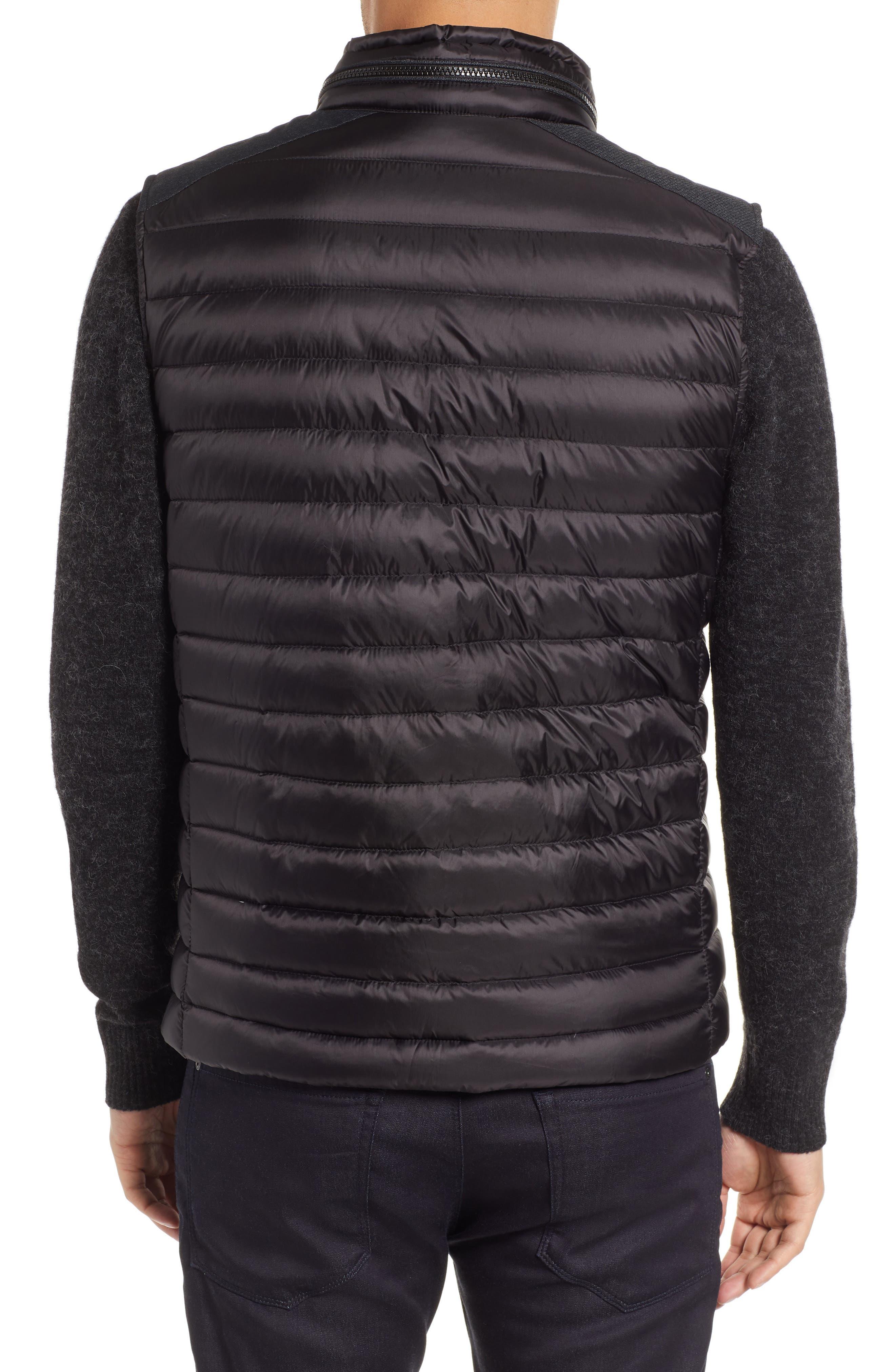 Down Puffer Hooded Vest,                             Alternate thumbnail 2, color,                             BLACK