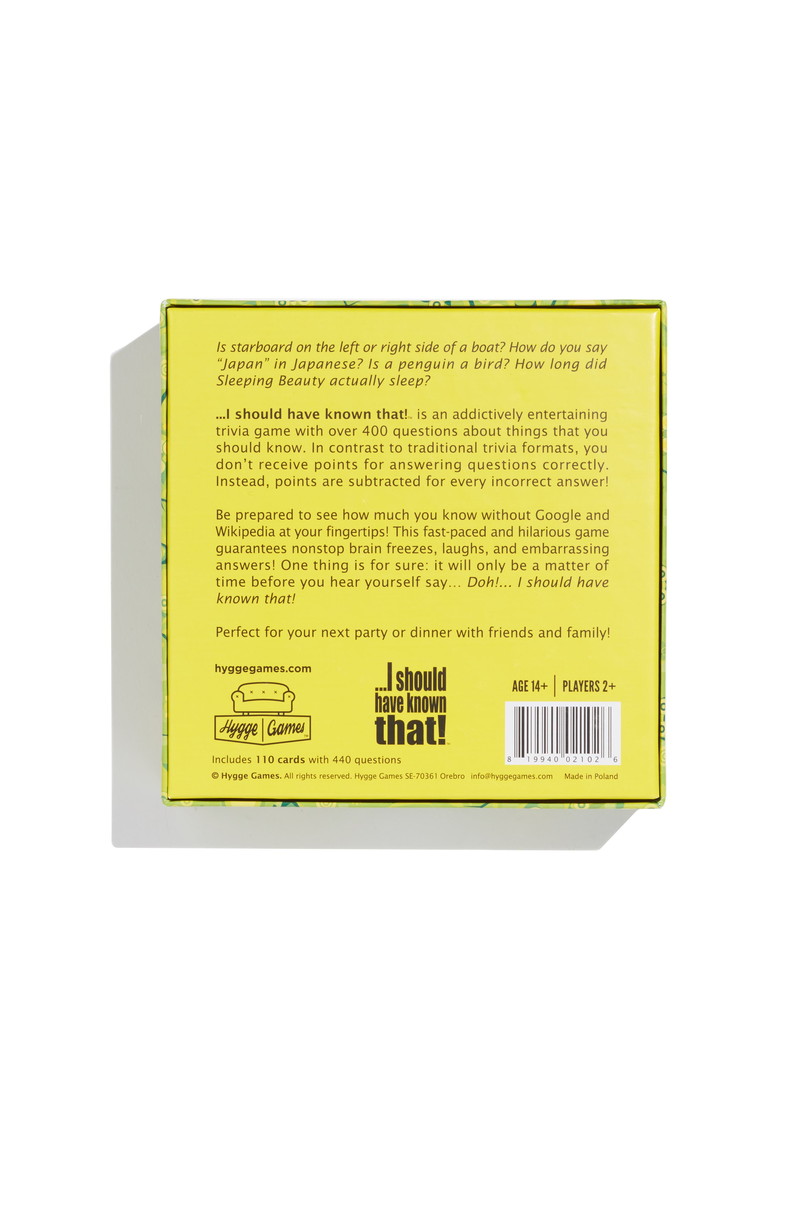 I Should Have Known That Party Trivia Card Game,                             Alternate thumbnail 2, color,                             960