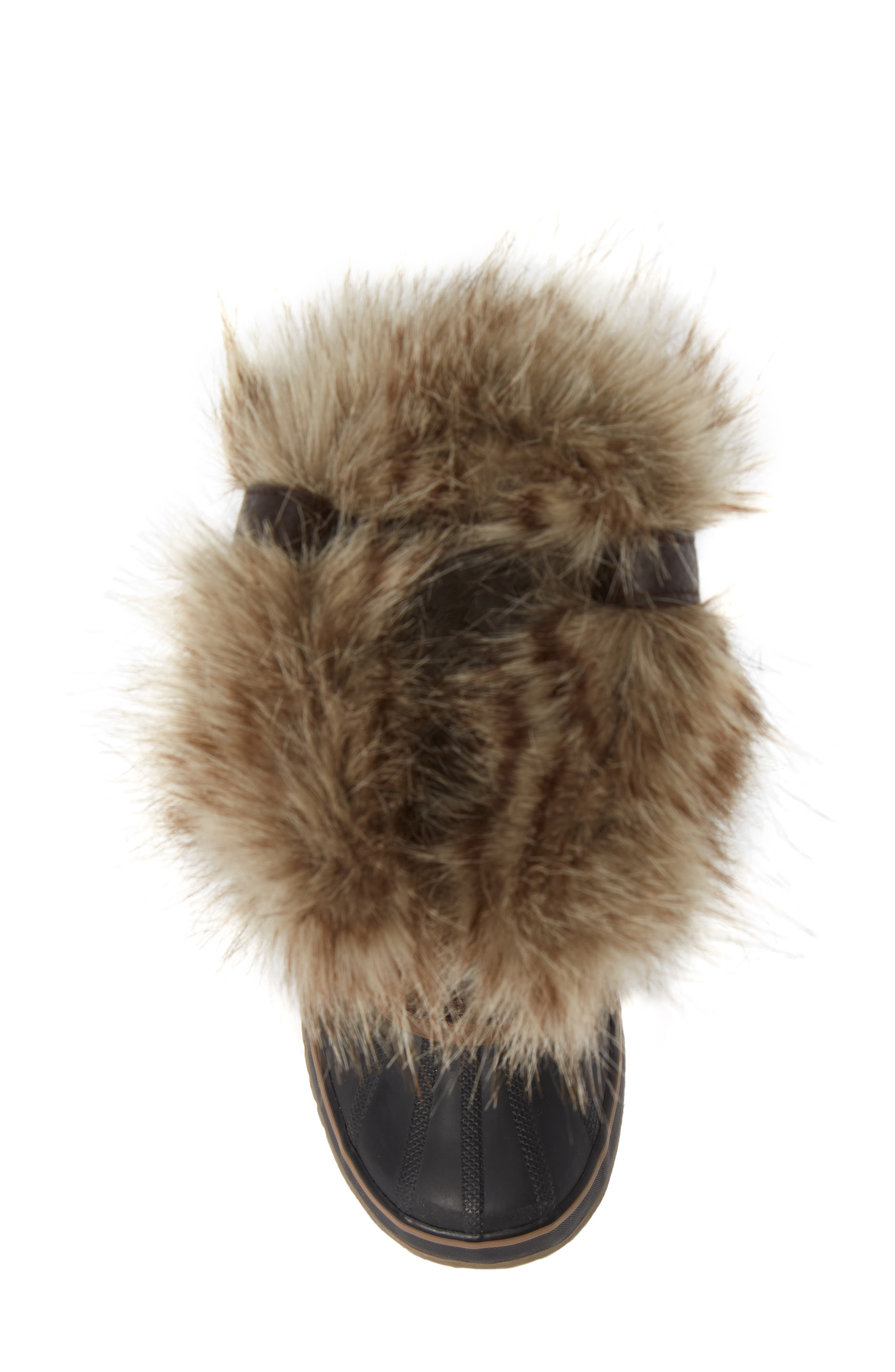 'Joan of Arctic' Waterproof Snow Boot,                             Alternate thumbnail 5, color,                             CATTAIL