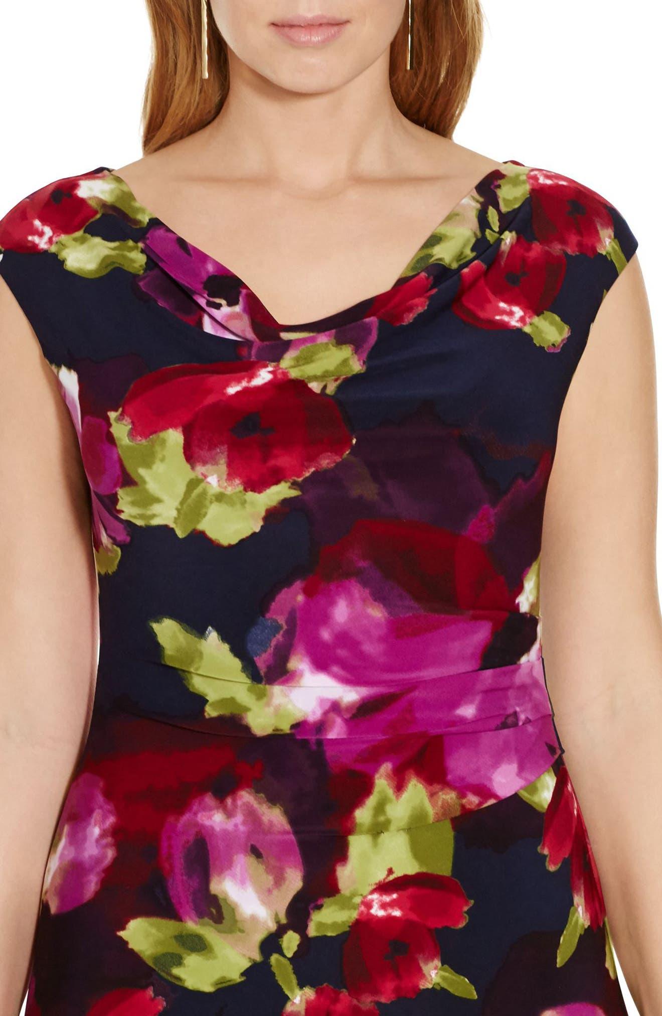 Cowl Neck Jersey Dress,                             Alternate thumbnail 3, color,