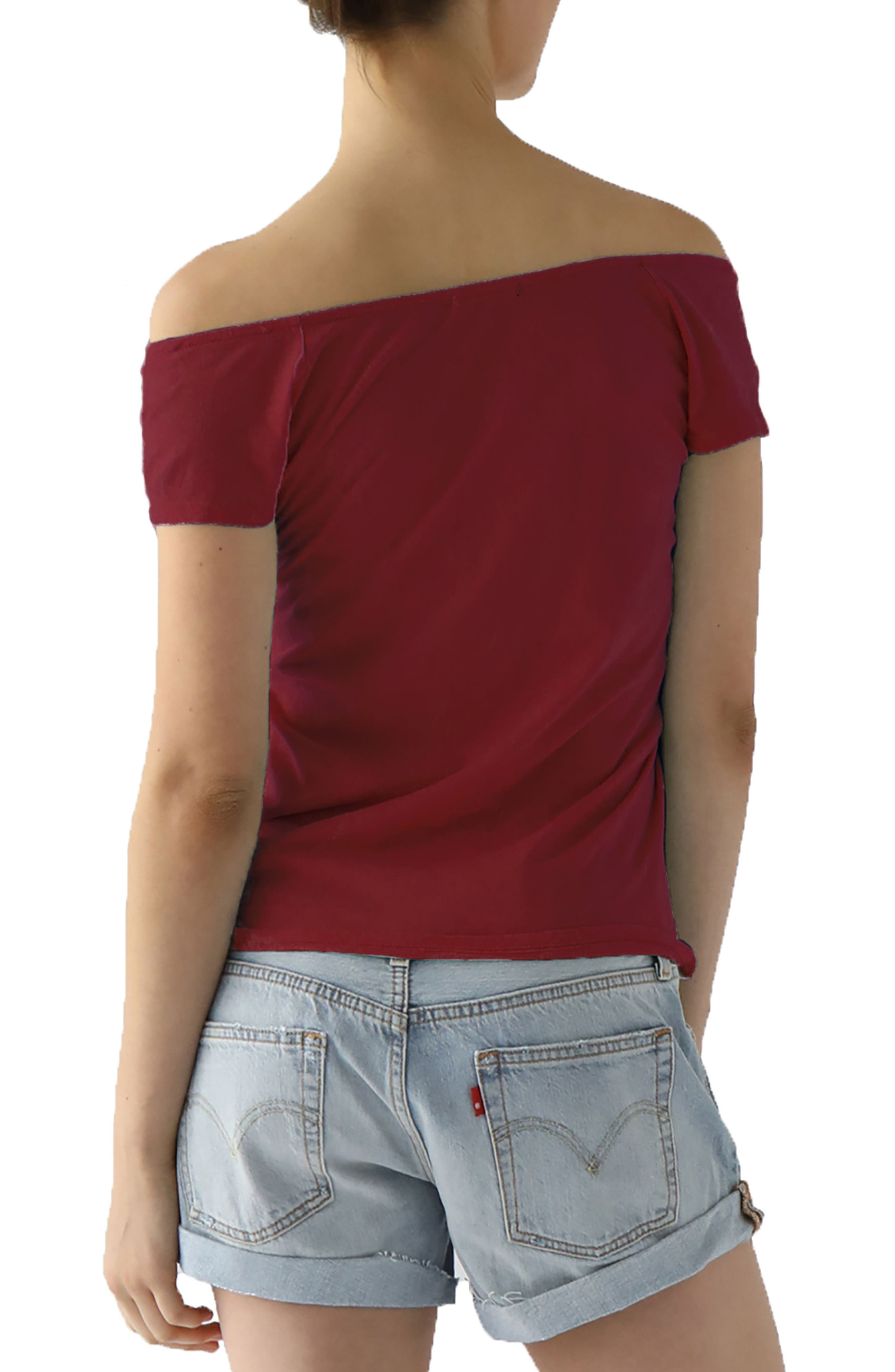 Imelda Tissue Jersey Off the Shoulder Tee,                             Alternate thumbnail 10, color,