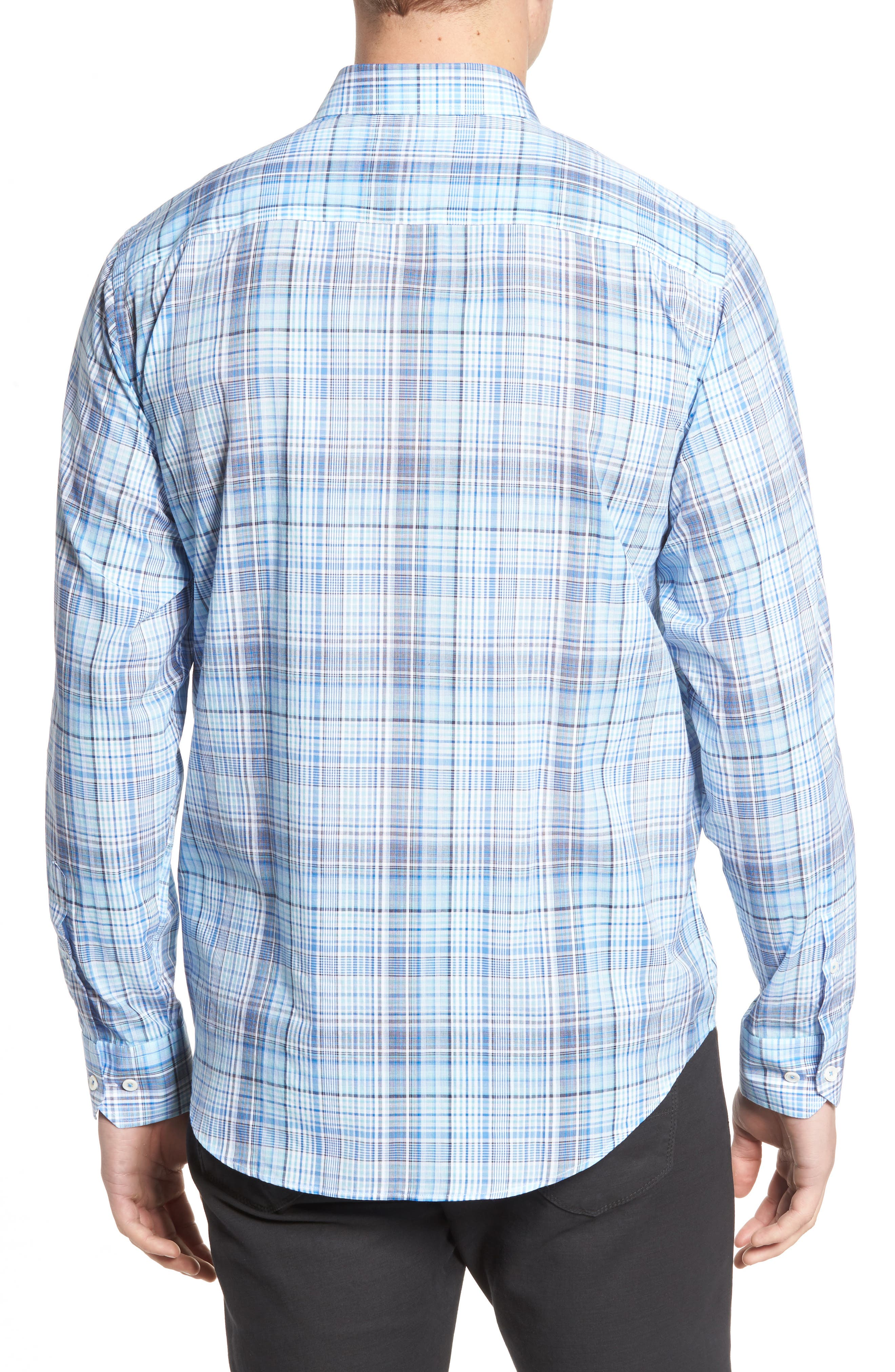 Classic Fit Plaid Sport Shirt,                             Alternate thumbnail 2, color,                             422
