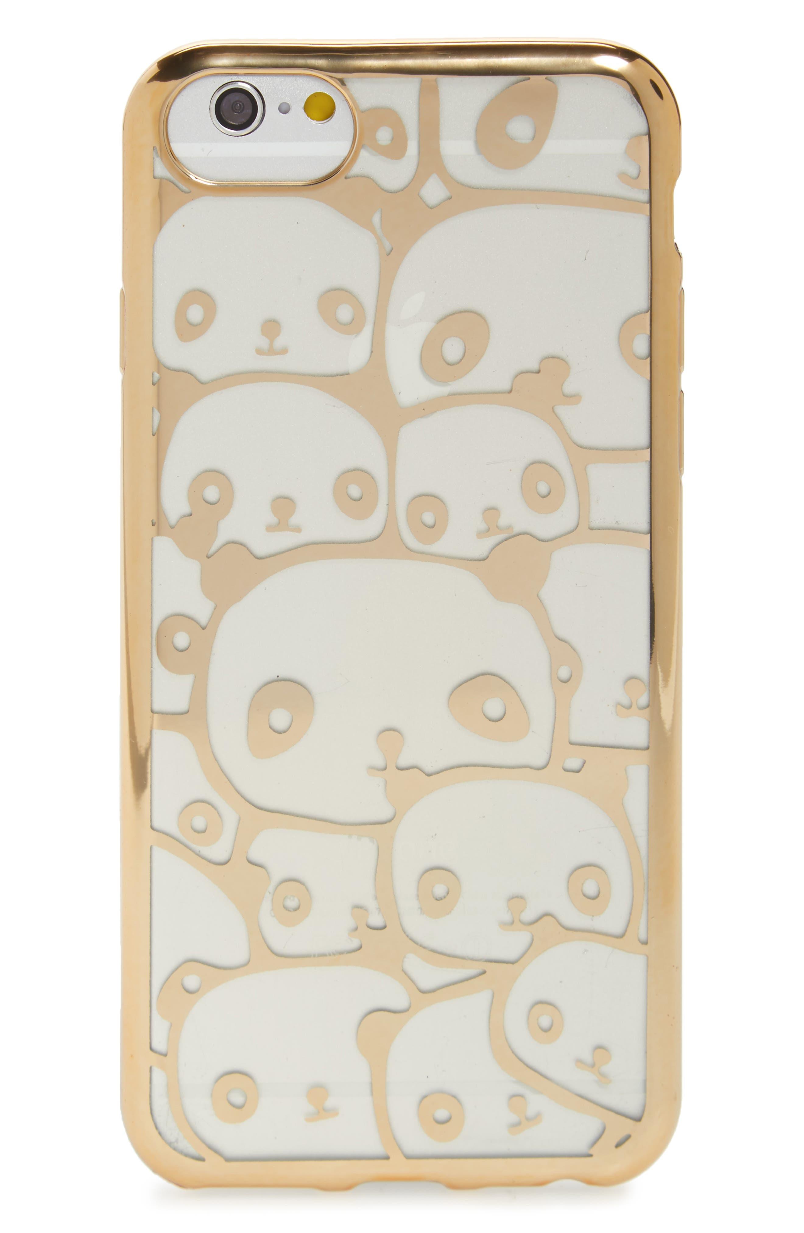 Transparent Panda iPhone 6/6s/7 Case,                         Main,                         color, 710